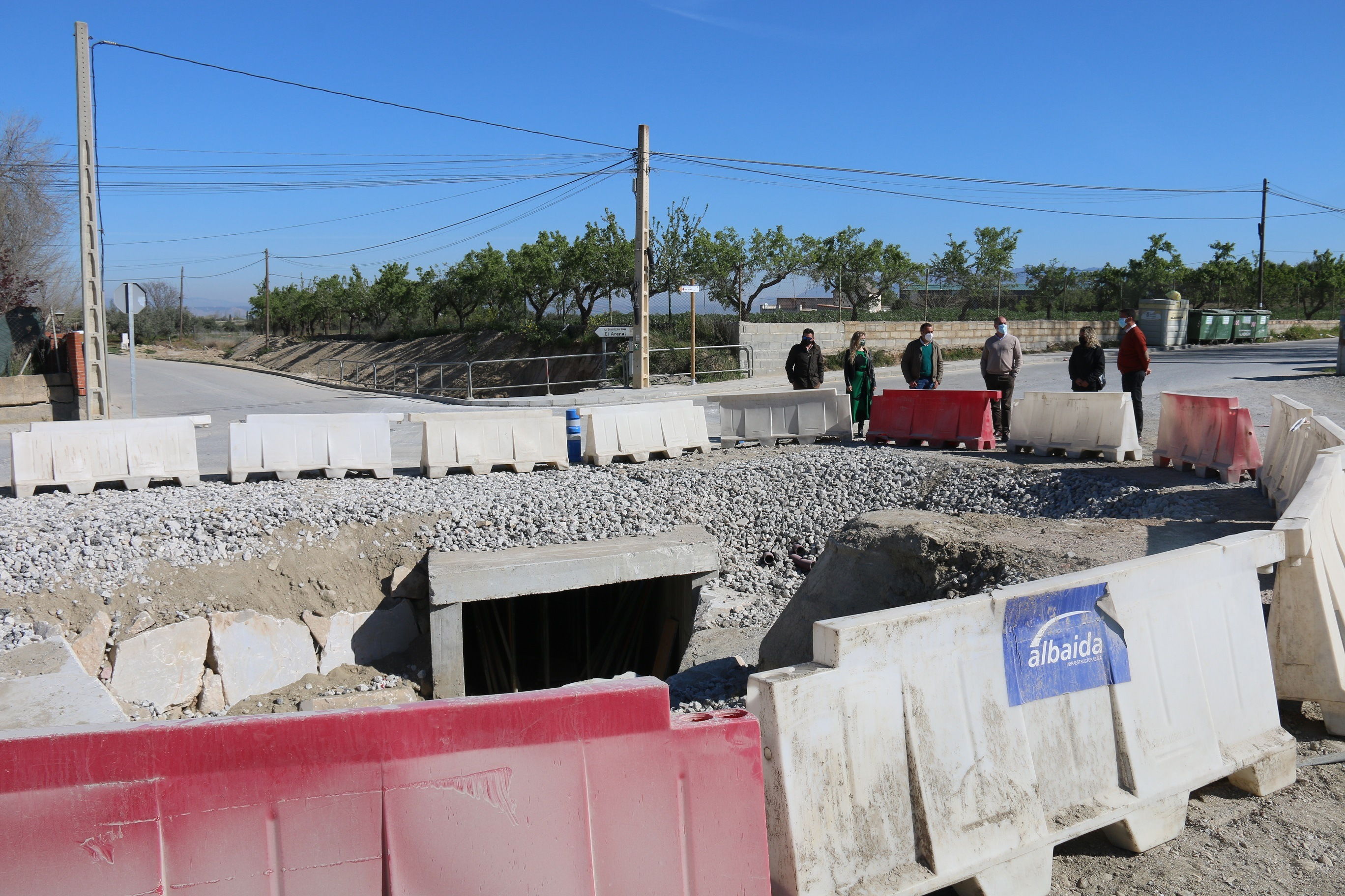 Finaliza el encauzamiento del Barranco de El Arenal de Alhendín