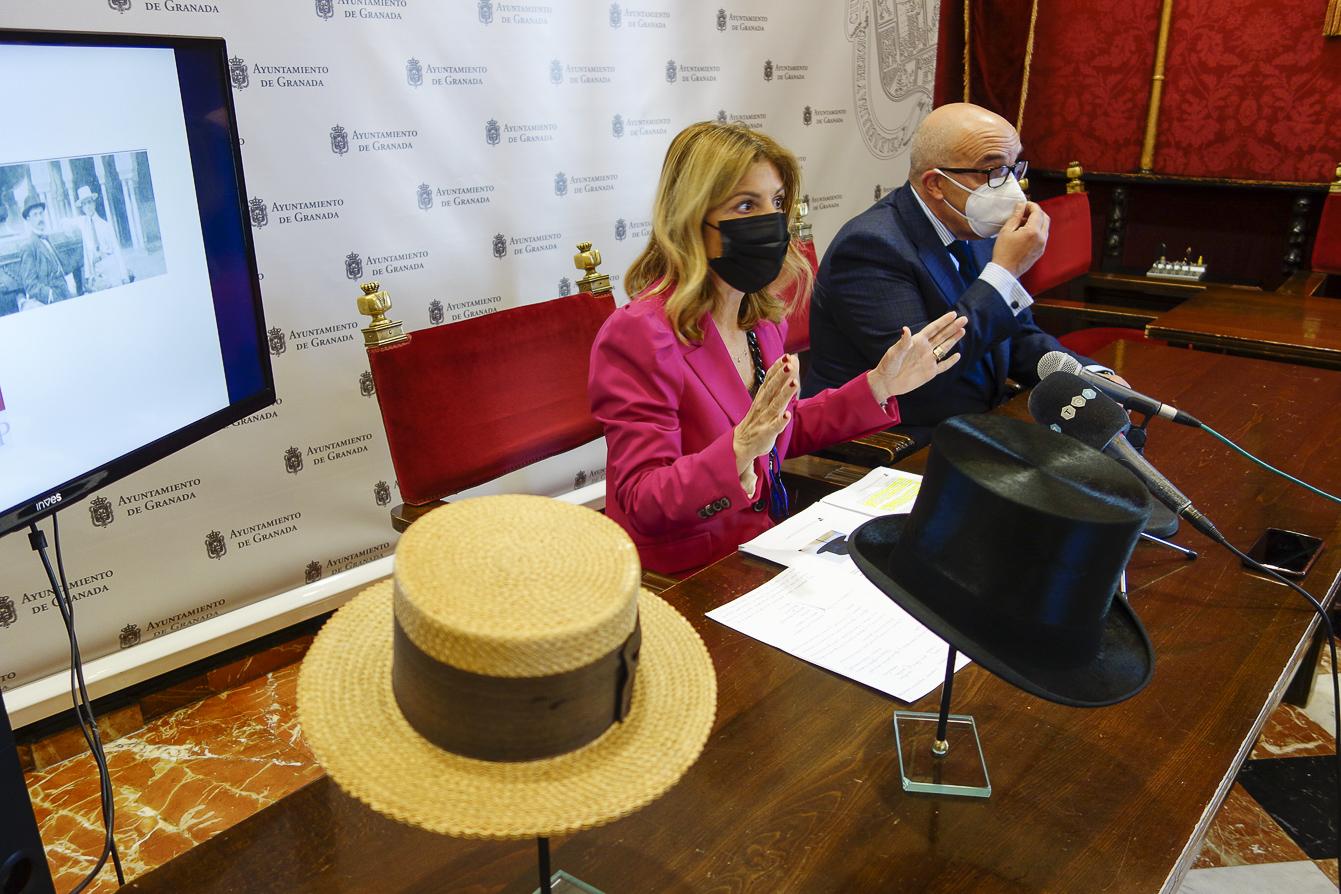 Restauran cuatro sombreros de Falla expuestos en el Carmen
