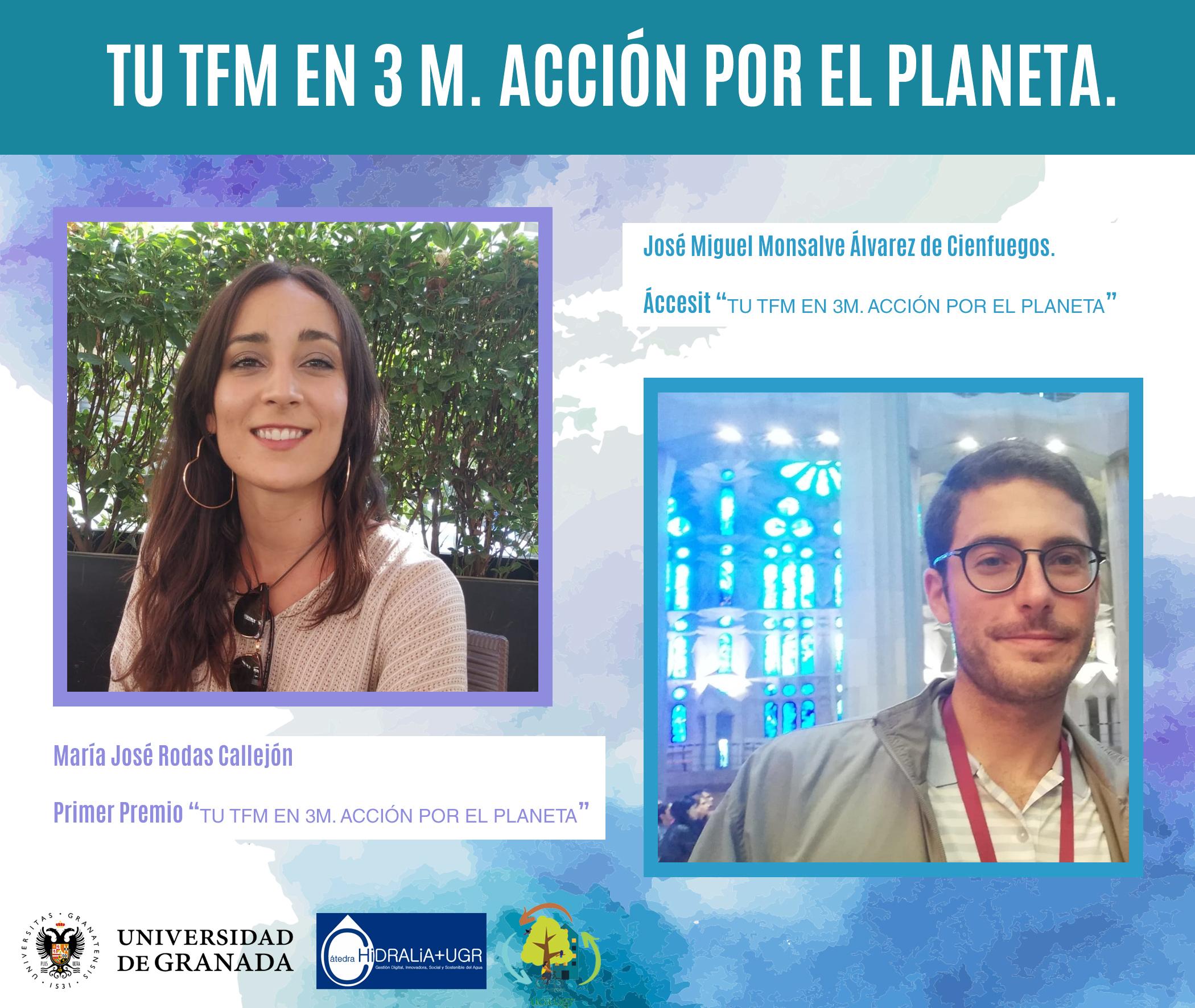 """La UGR hace entrega de la IV edición de los Premios """"Acción por el planeta"""" a los mejores TFG y TFM sobre sostenibilidad"""