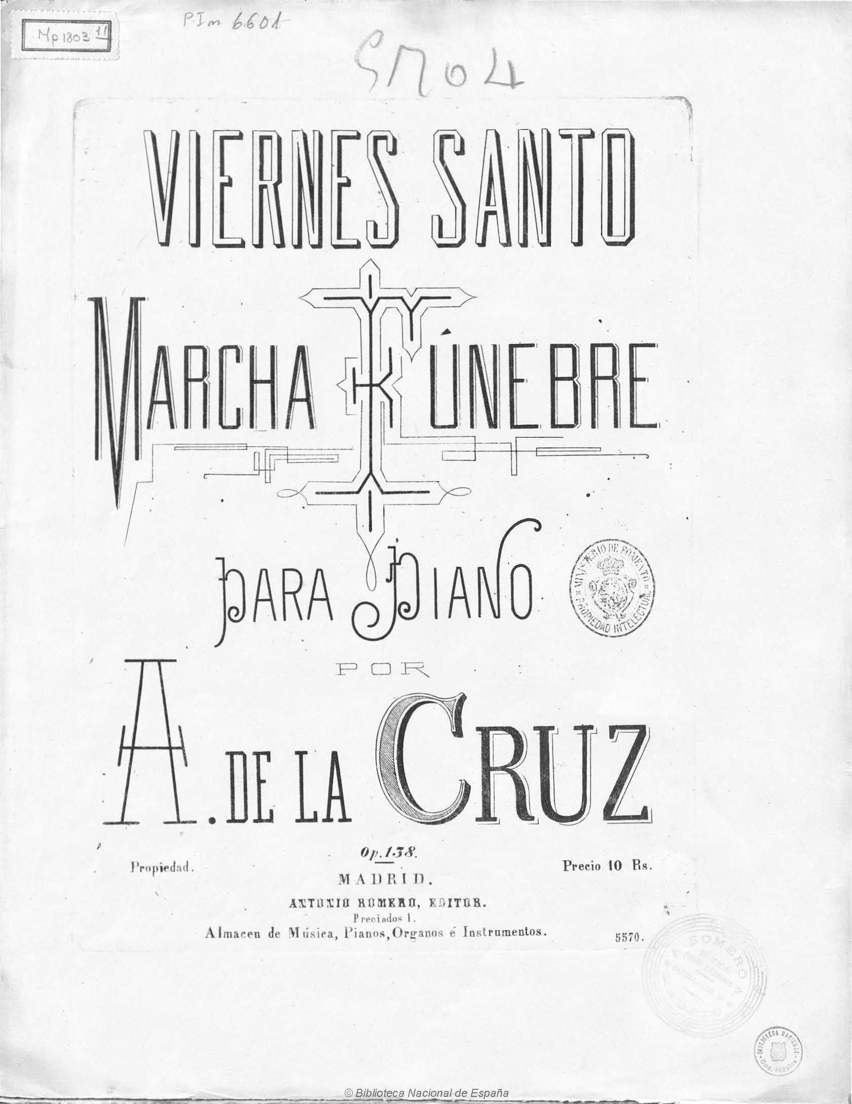 Investigador señala que la primera marcha procesional de la Semana Santa de Granada se compuso en 1875