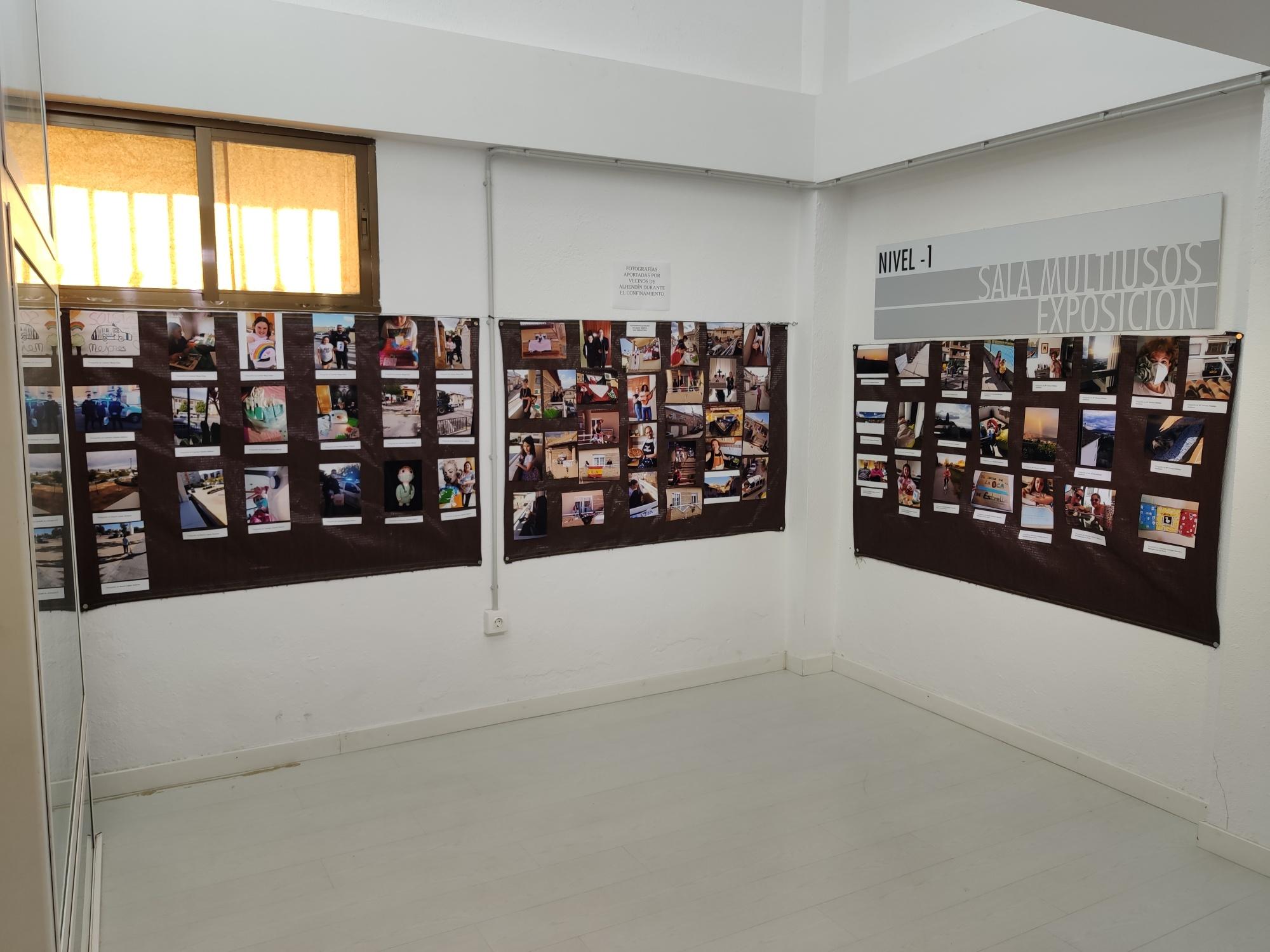 Una exposición recoge fotografías que los vecinos de Alhendín hicieron durante el confinamiento