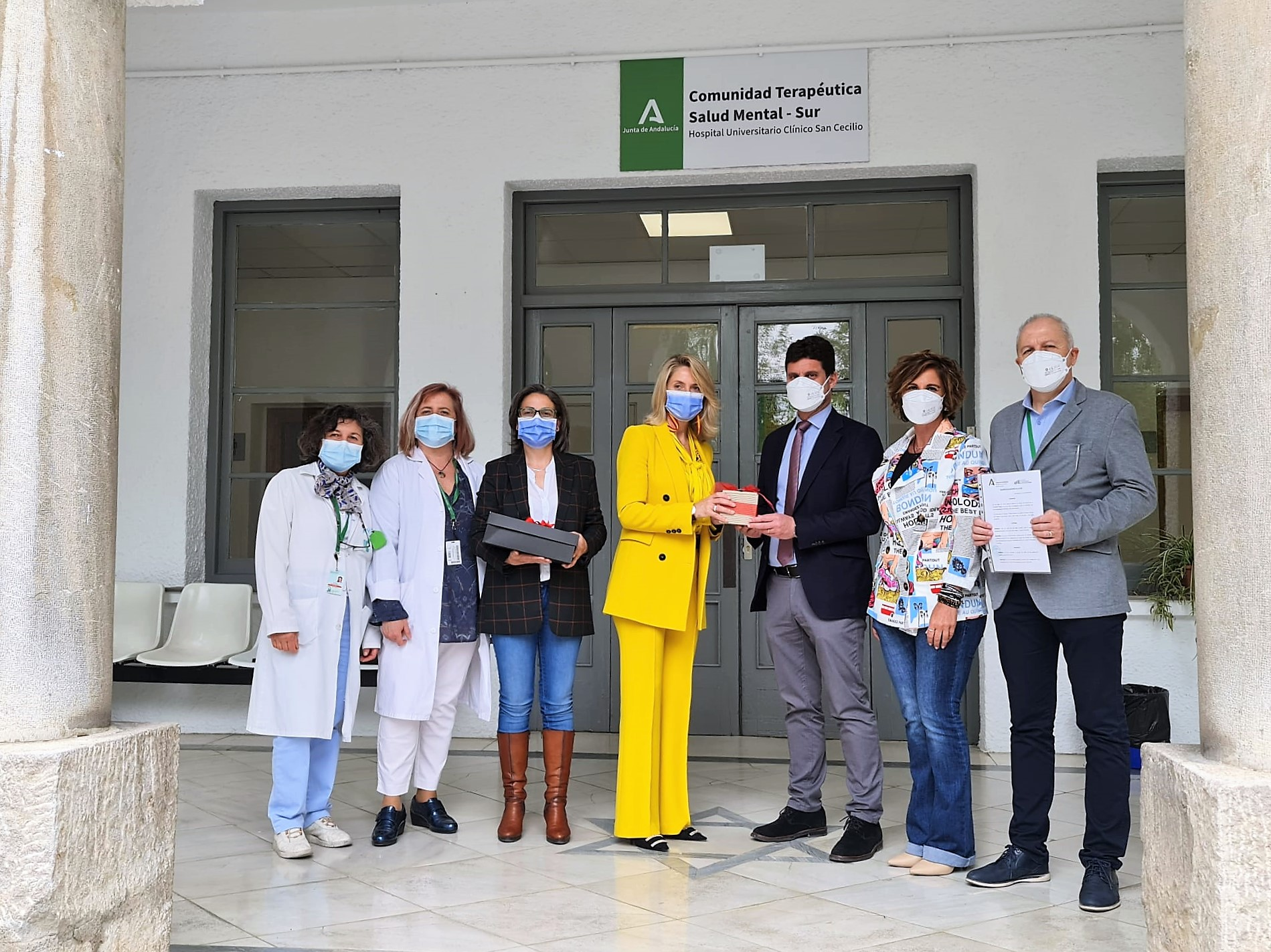 Responsables de FAISEM visitan las instalaciones de la Comunidad Terapéutica del Clínico San Cecilio