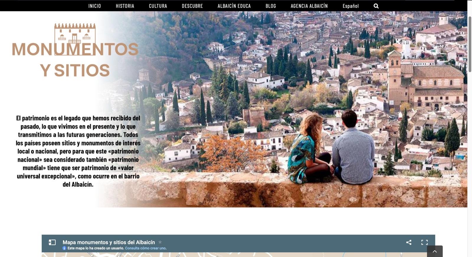 El proyecto «Albaicín paraíso abierto» permite conocer el barrio de forma interactiva