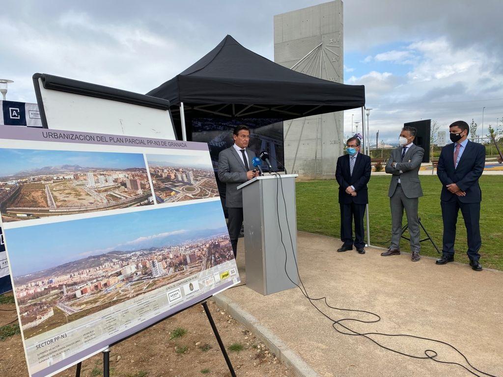 Granada recepciona la nueva zona residencial del barrio Albayda