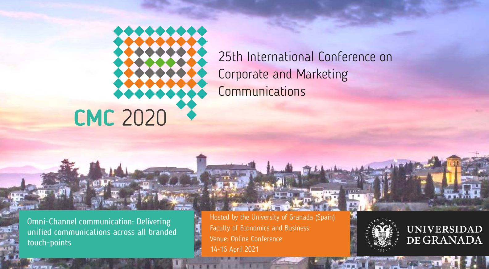 La UGR organiza el 25th International Conference on Corporate and Marketing Communications (CMC2020)