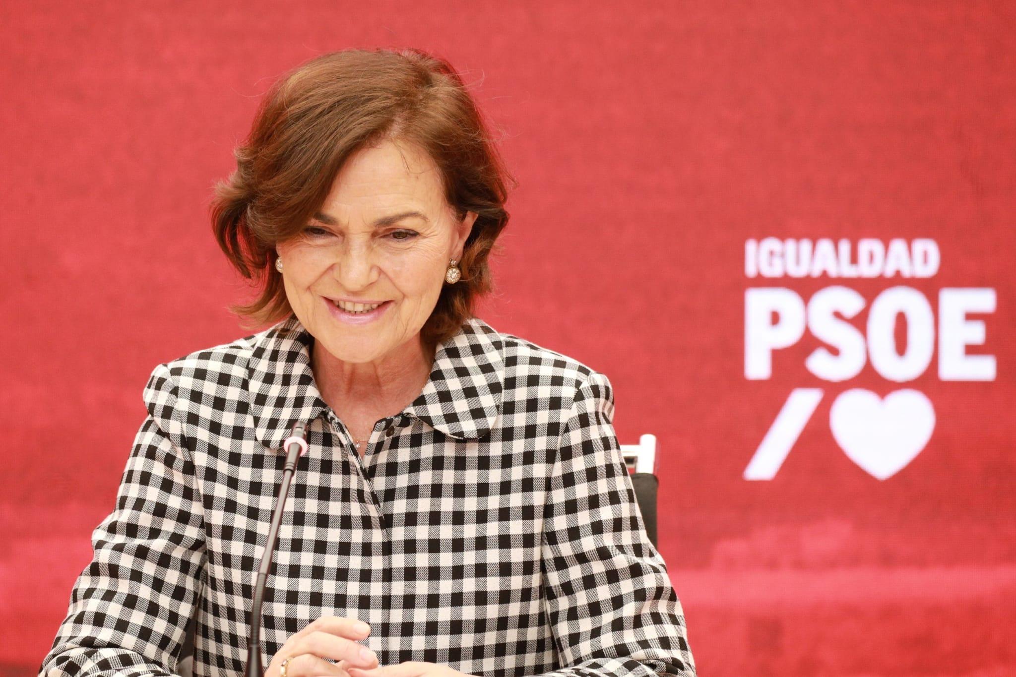 Carmen Calvo participa en un foro del PSOE para abordar el enfoque de género en las políticas públicas provinciales