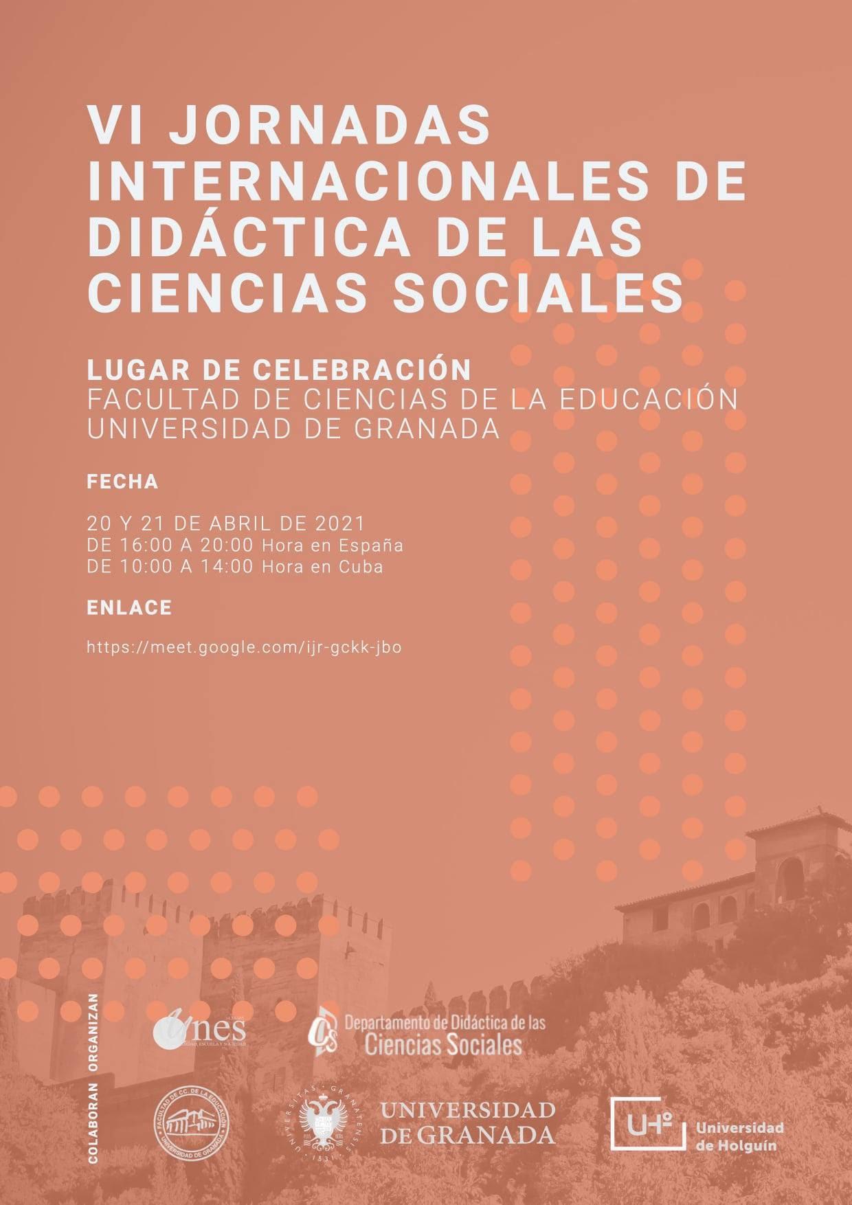 La UGR junto con la Universidad de Holguín (Cuba) organiza las VI Jornadas Internacionales de Didáctica de las Ciencias Sociales