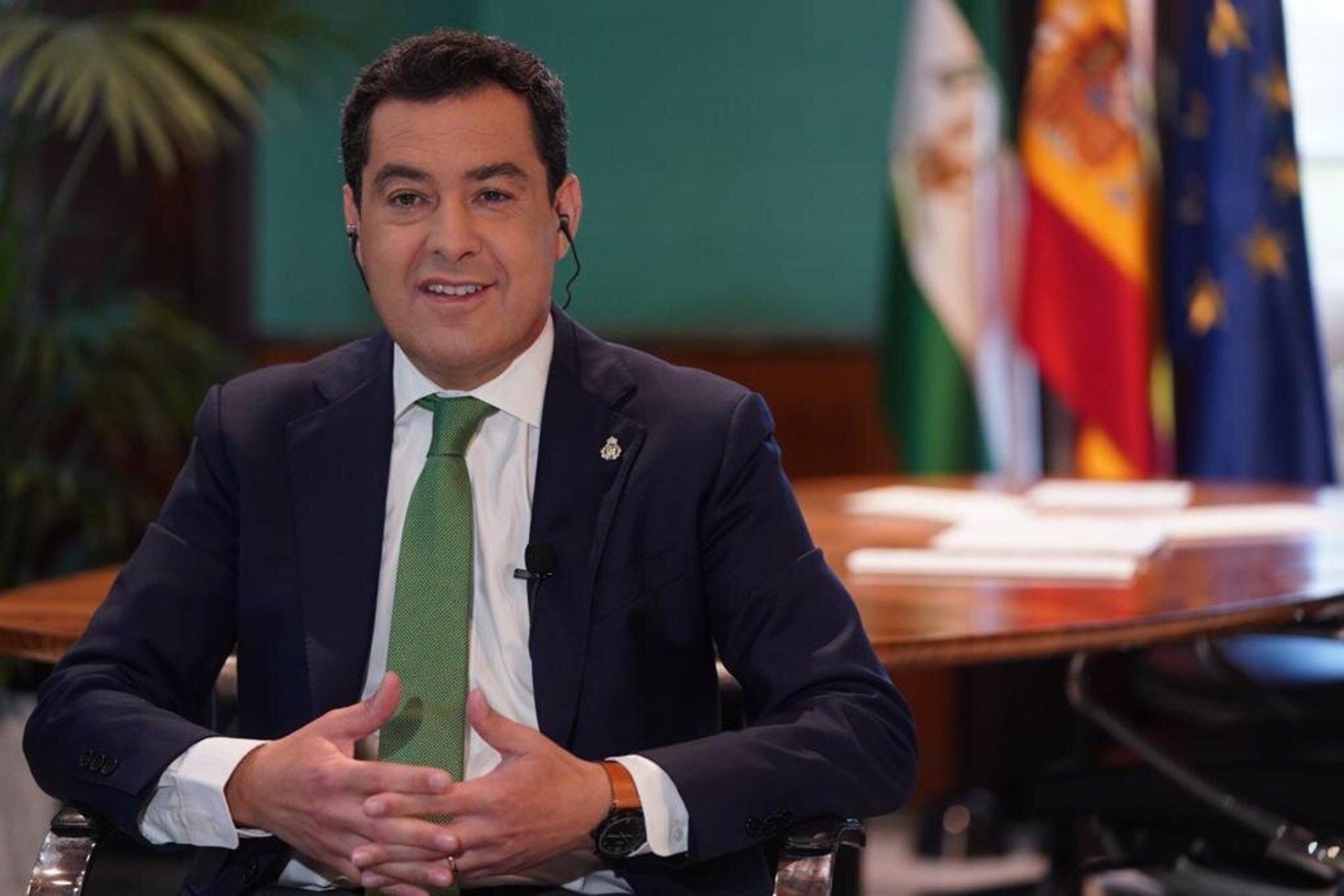 Moreno afirma que no entra en sus «planes adelantar las elecciones andaluzas con independencia del resultado de Madrid»