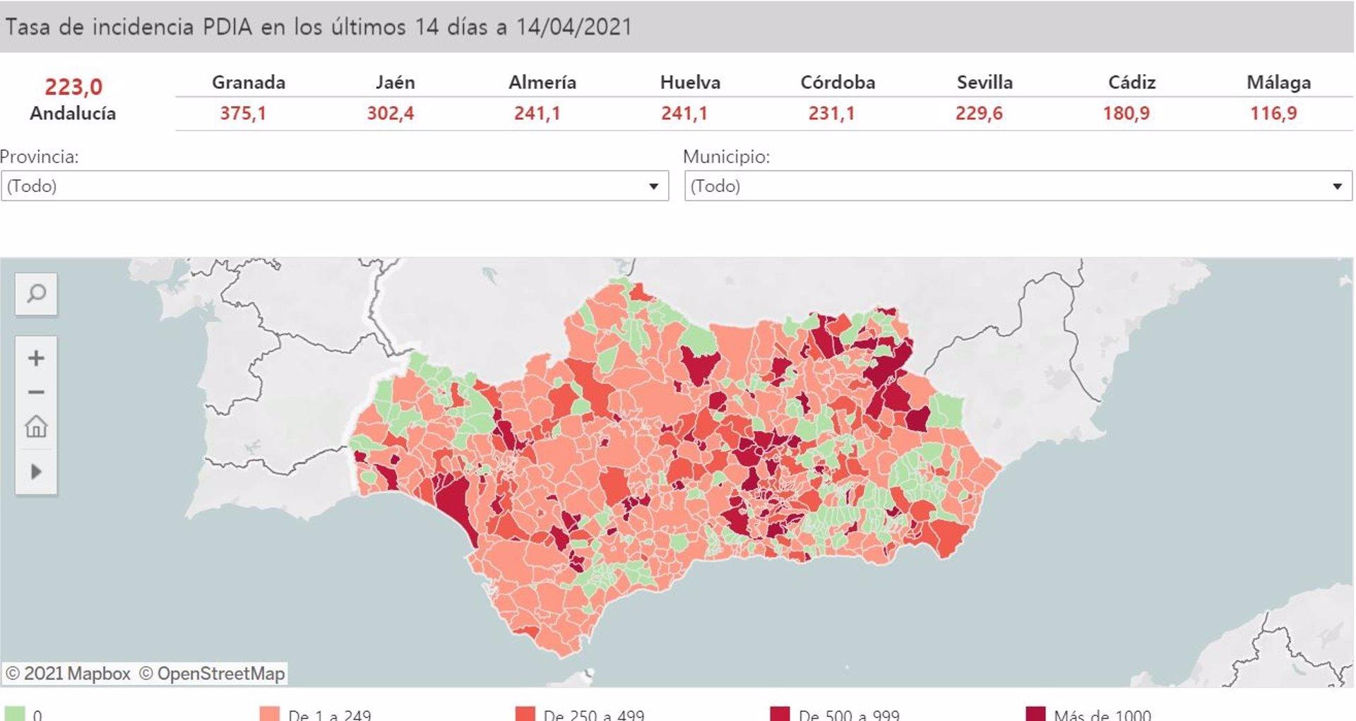 29 localidades de Granada presentan datos para limitar la movilidad a 24 horas de anunciar las restricciones