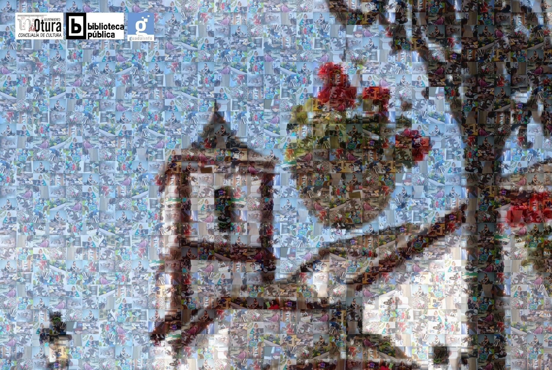 Otura confecciona un enorme 'puzle lector' con más de cien fotos de sus vecinos leyendo
