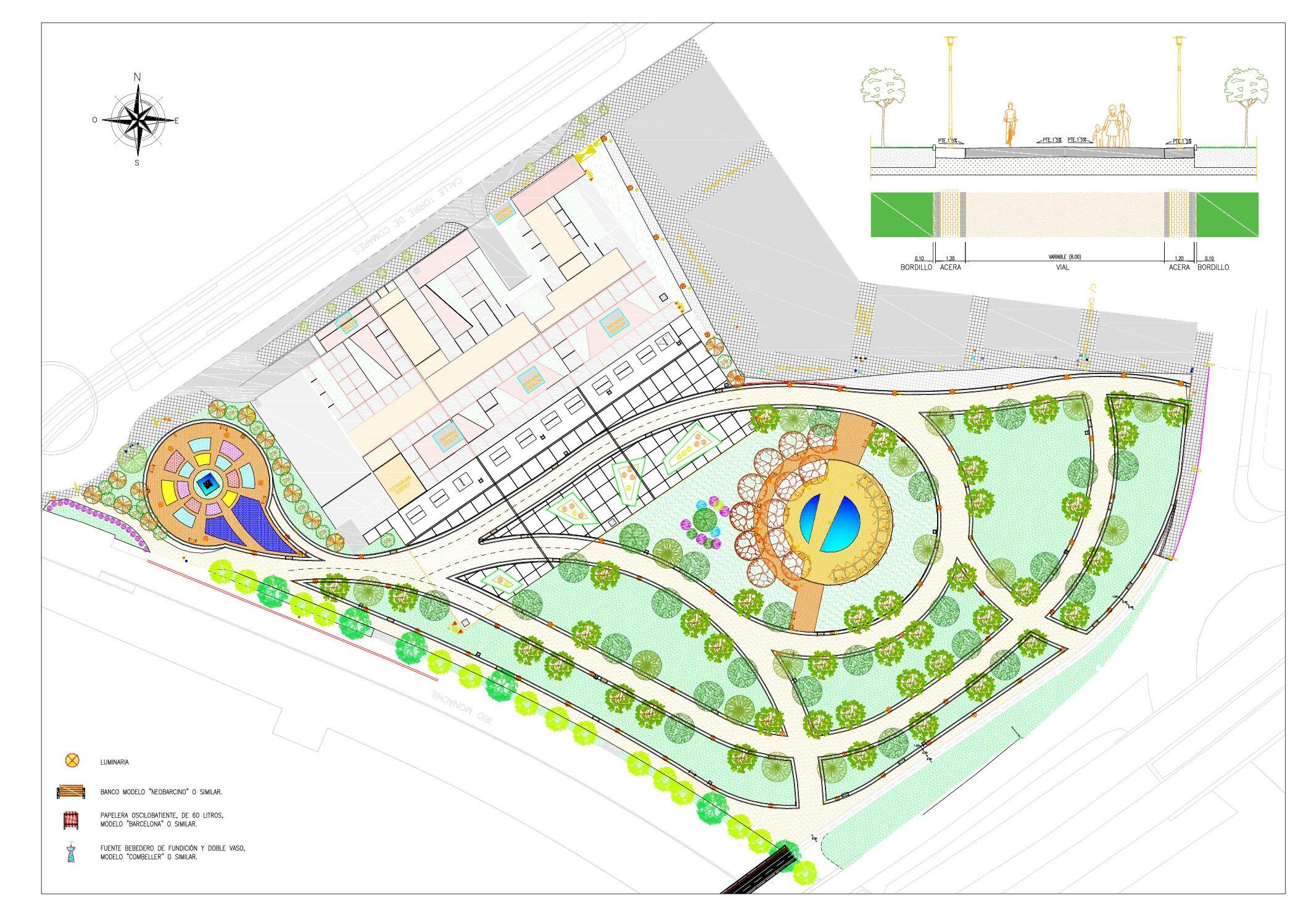 Inician las obras de un nuevo parque público frente al estadio de Los Cármenes
