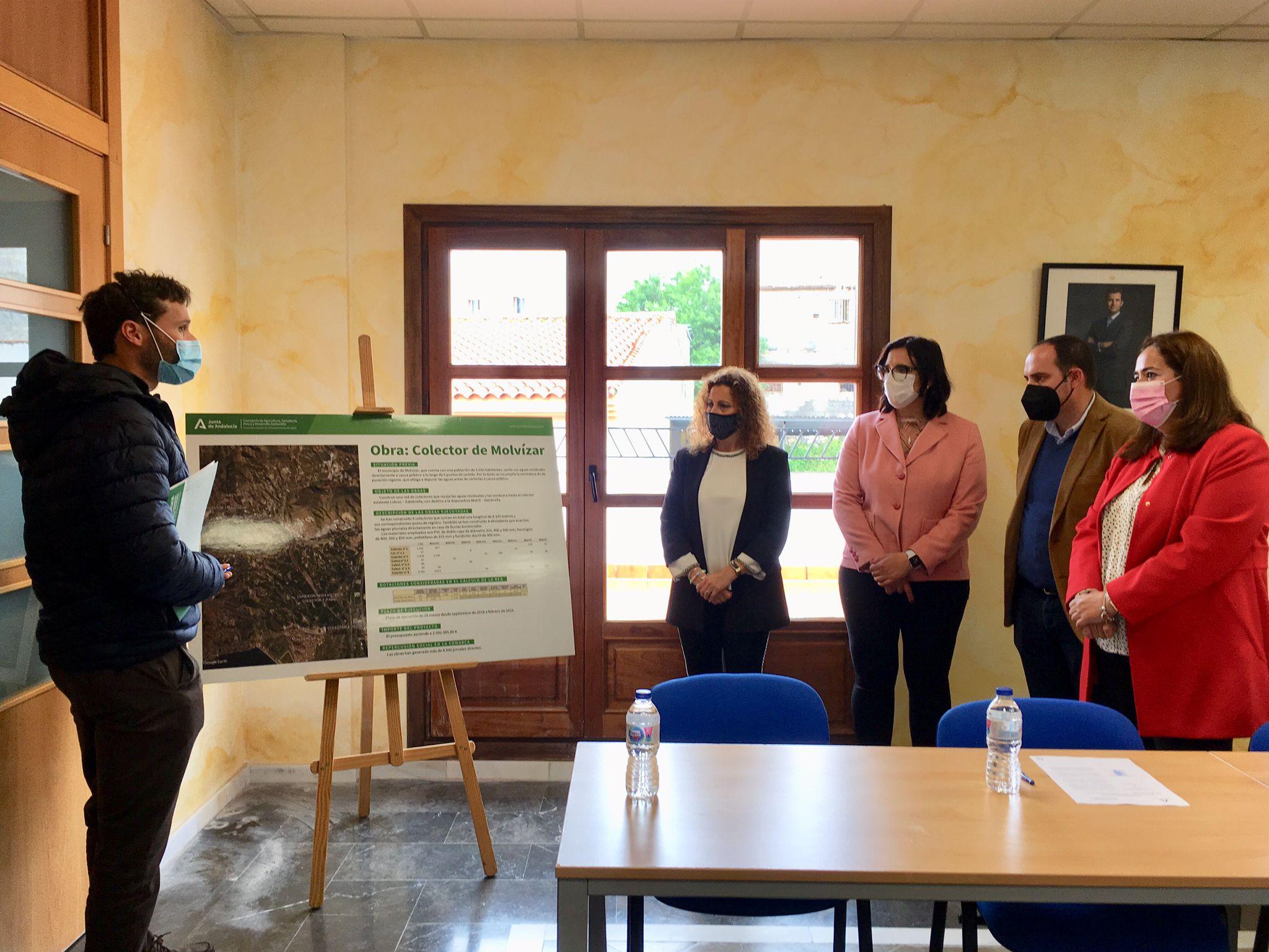 Concluyen las obras del nuevo colector de aguas residuales de Molvízar
