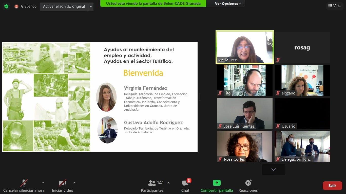 La Junta invita a los empresarios de Granada pedir las ayudas al mantenimiento de la actividad