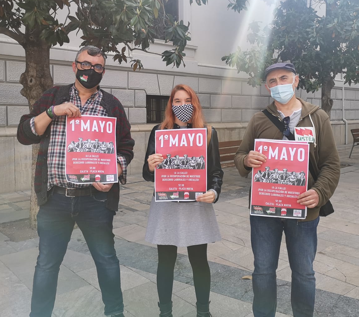 Los sindicatos CGT, SAT y USTEA vuelven a convocar a los granadinos a las calles el 1º de Mayo