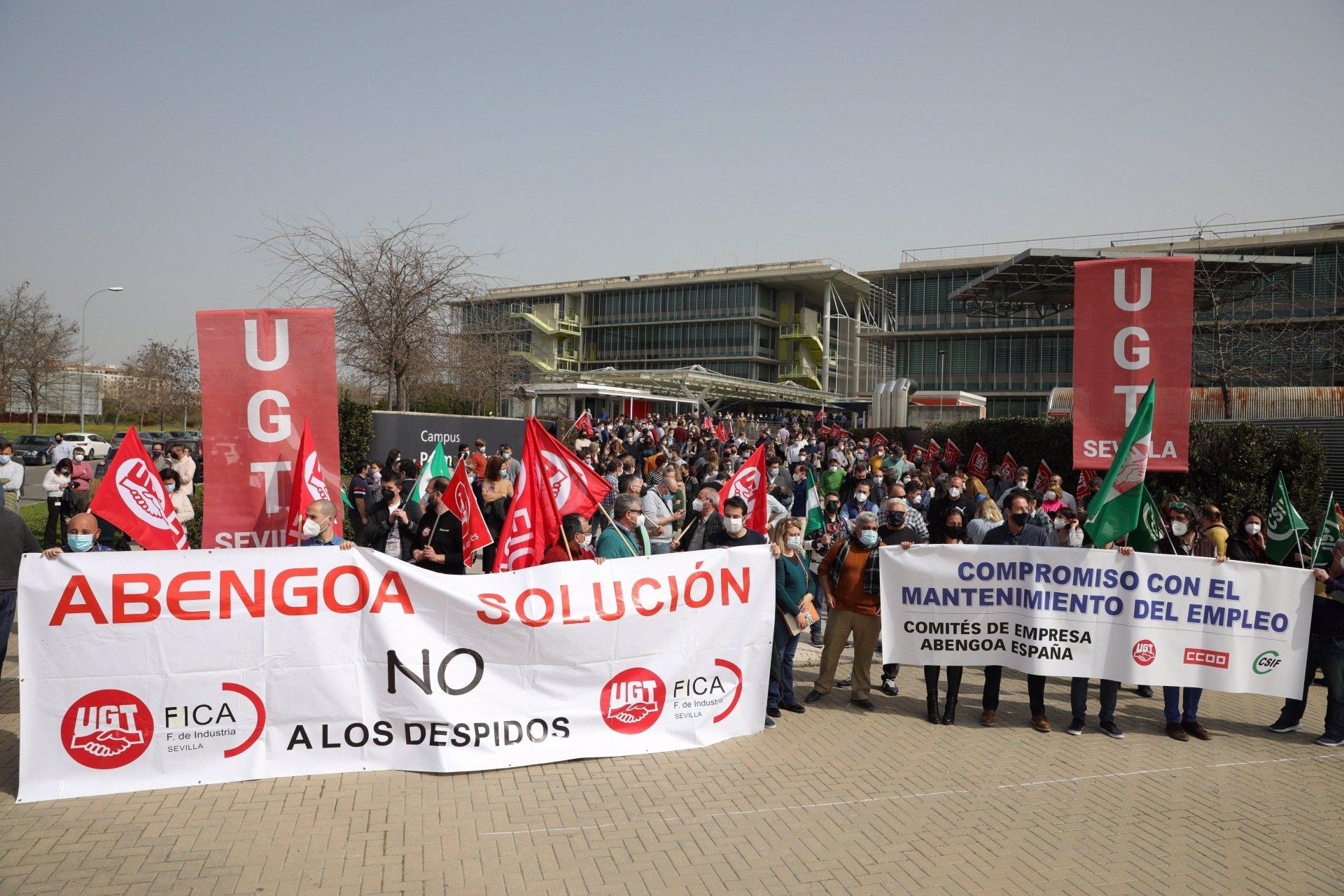 Trabajadores de Abengoa se manifiestan este jueves en Sevilla para pedir una solución y mantener el empleo
