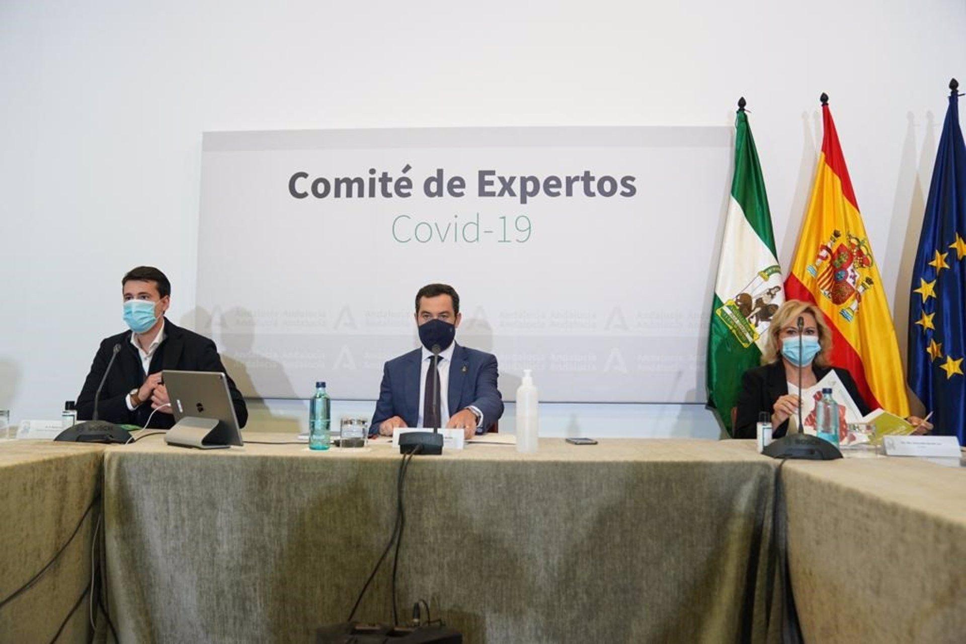 Andalucía estudia posponer la reunión del Comité de Expertos a la próxima semana ante «la tendencia a mejorar»