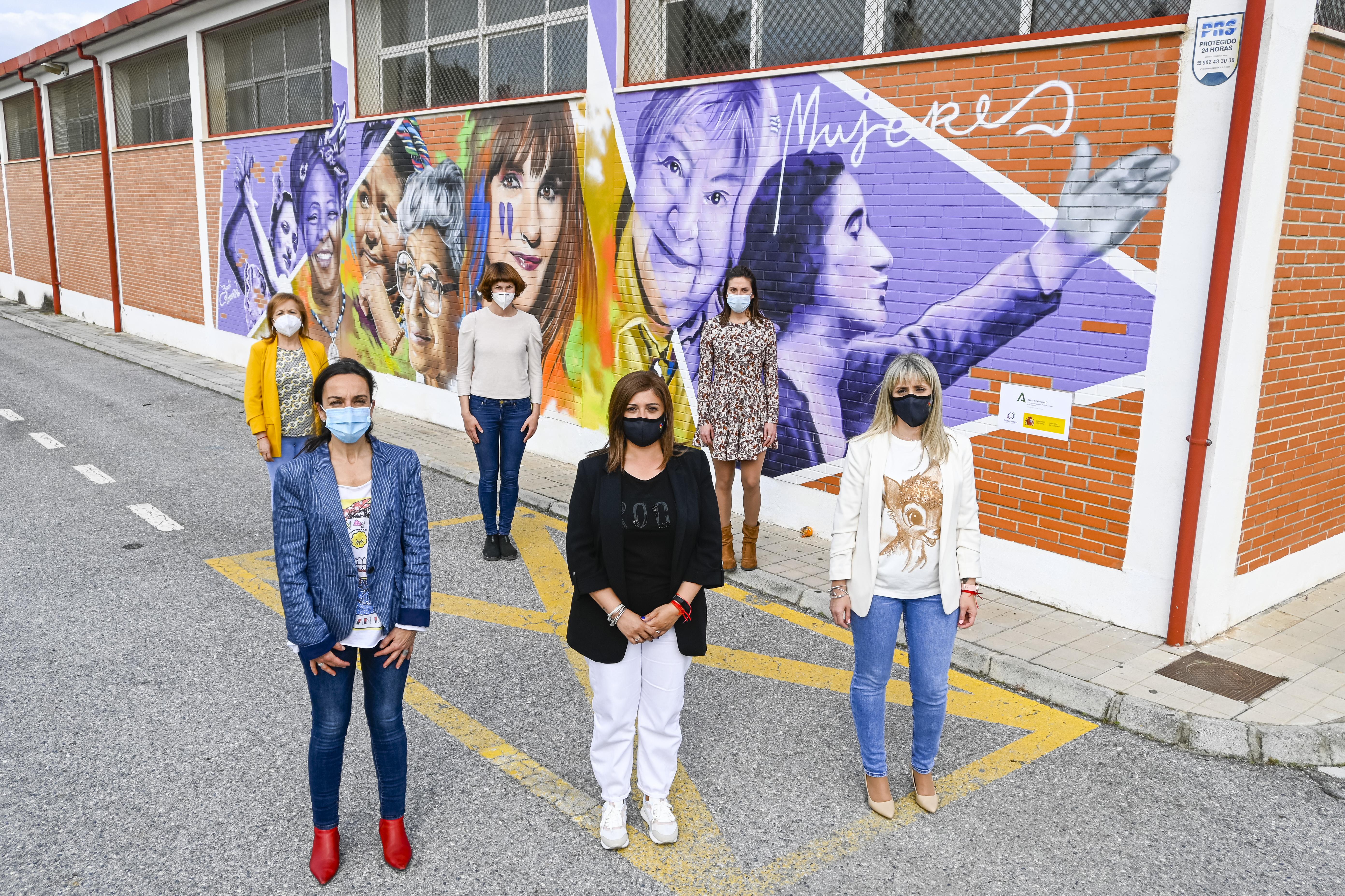 Mural feminista en Armilla para recordar, homenajear y visibilizar a las mujeres
