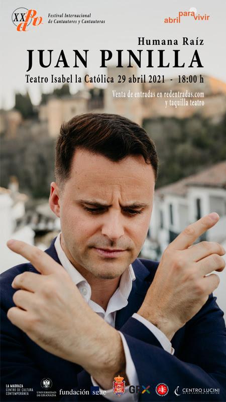Juan Pinilla presentará «Humana Raíz» en el Teatro Isabel la Católica