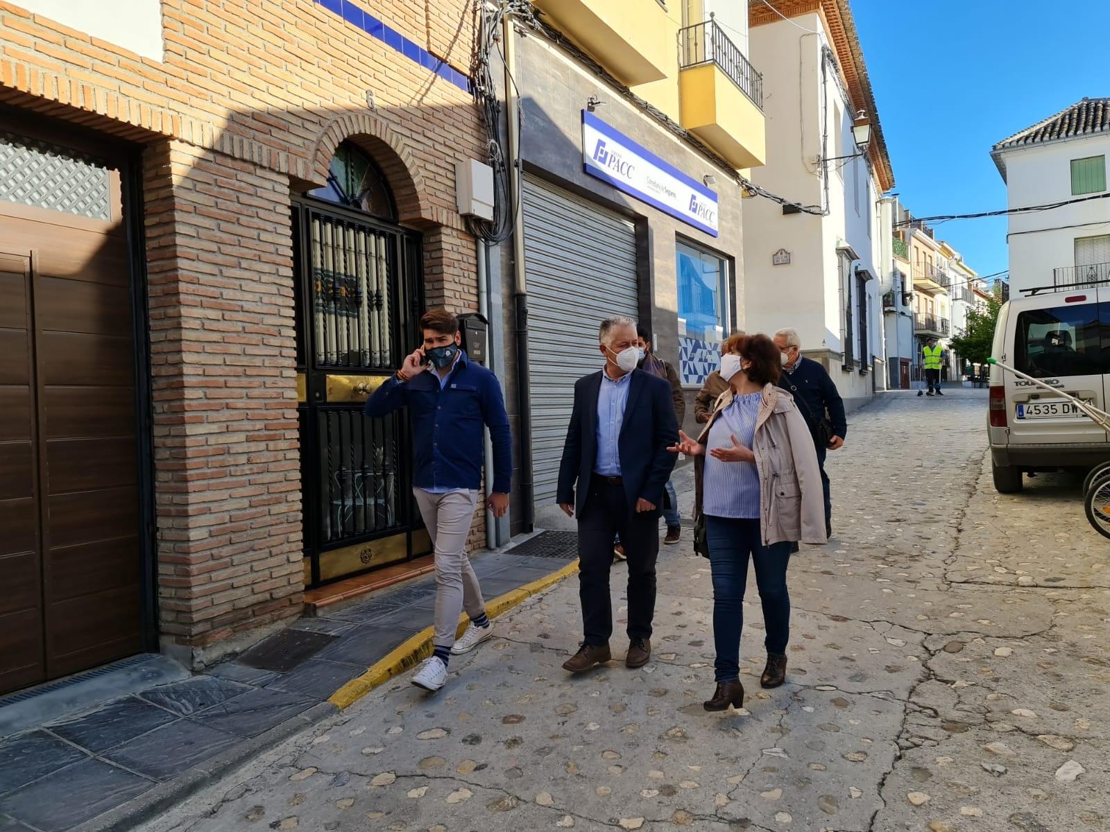 Diputación invierte 250.000 euros en la mejora de calles y espacios públicos de Huétor Santillán