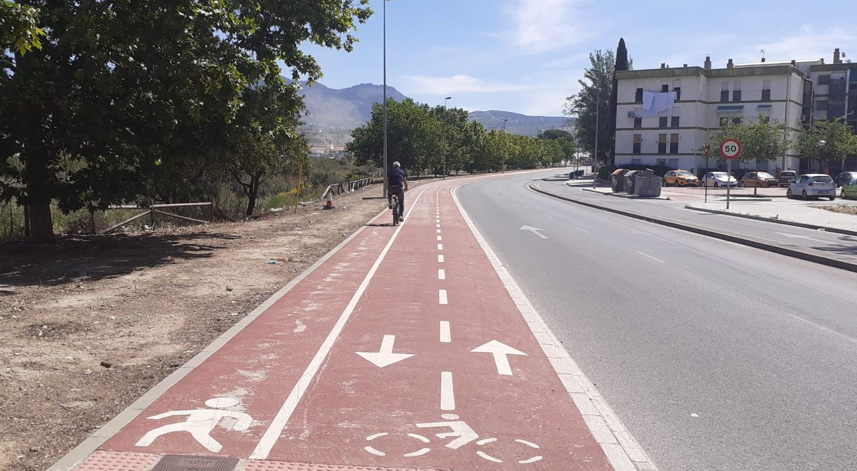 El carril bici del Distribuidor Norte de Granada crecerá medio kilómetro
