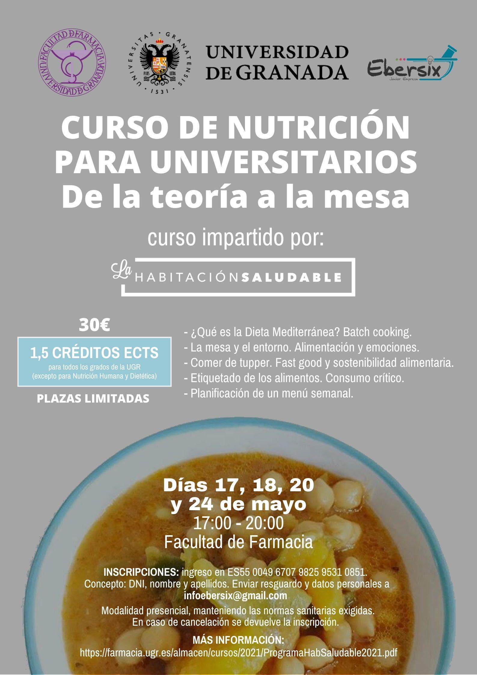 La Universidad de Granada enseñará a sus estudiantes a cocinar de manera saludable