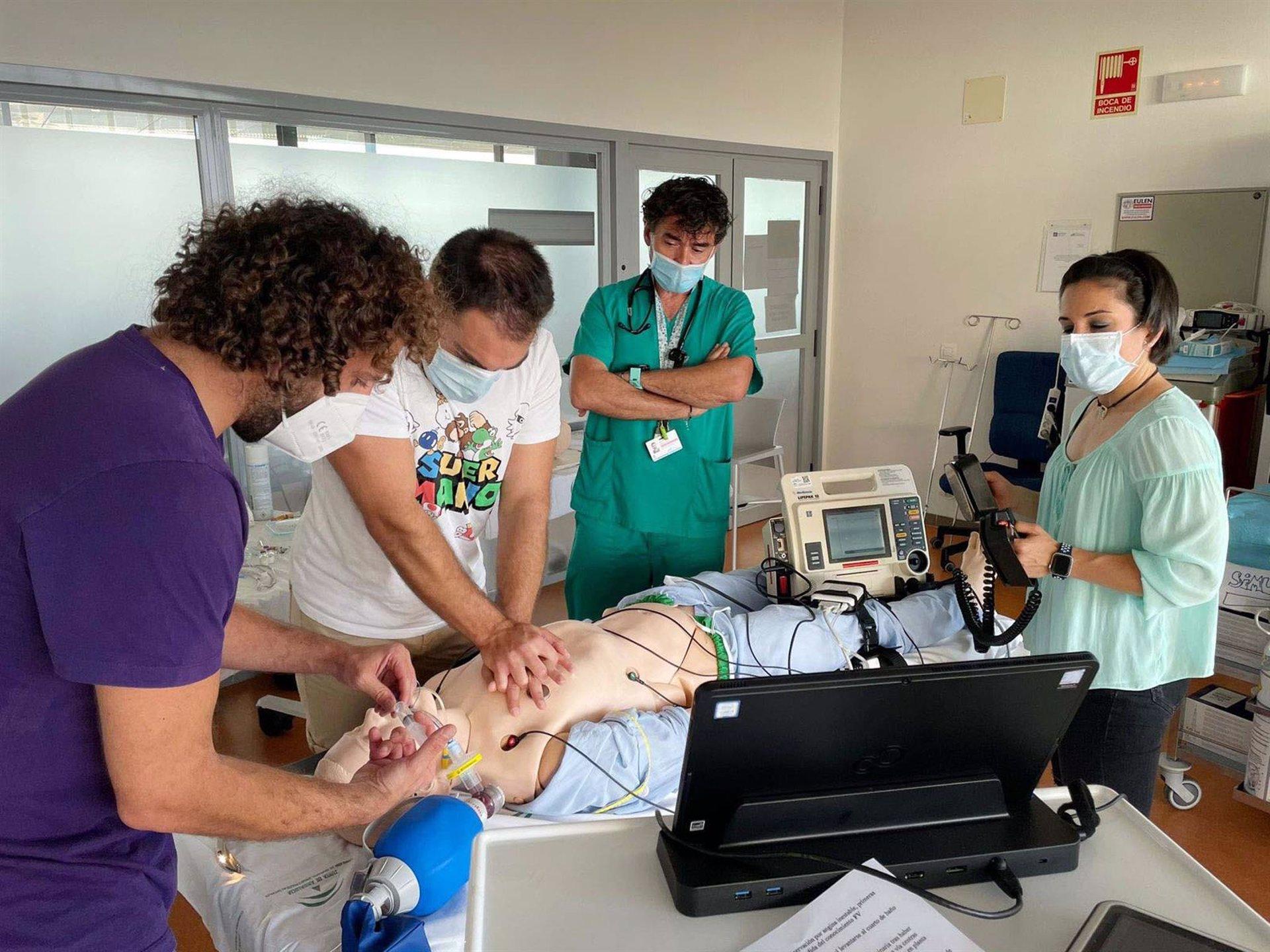 El Clínico formará este año a más de 250 profesionales en técnicas de soporte vital