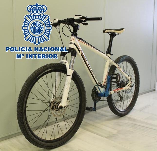 Recuperada una bicicleta robada que se ofertaba en un portal de compra-venta de objetos usados