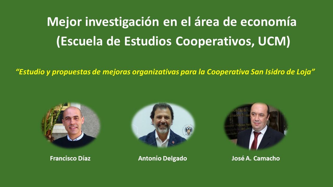 Tres profesores de la Universidad de Granada premiados por su estudio de la Cooperativa San Isidro de Loja