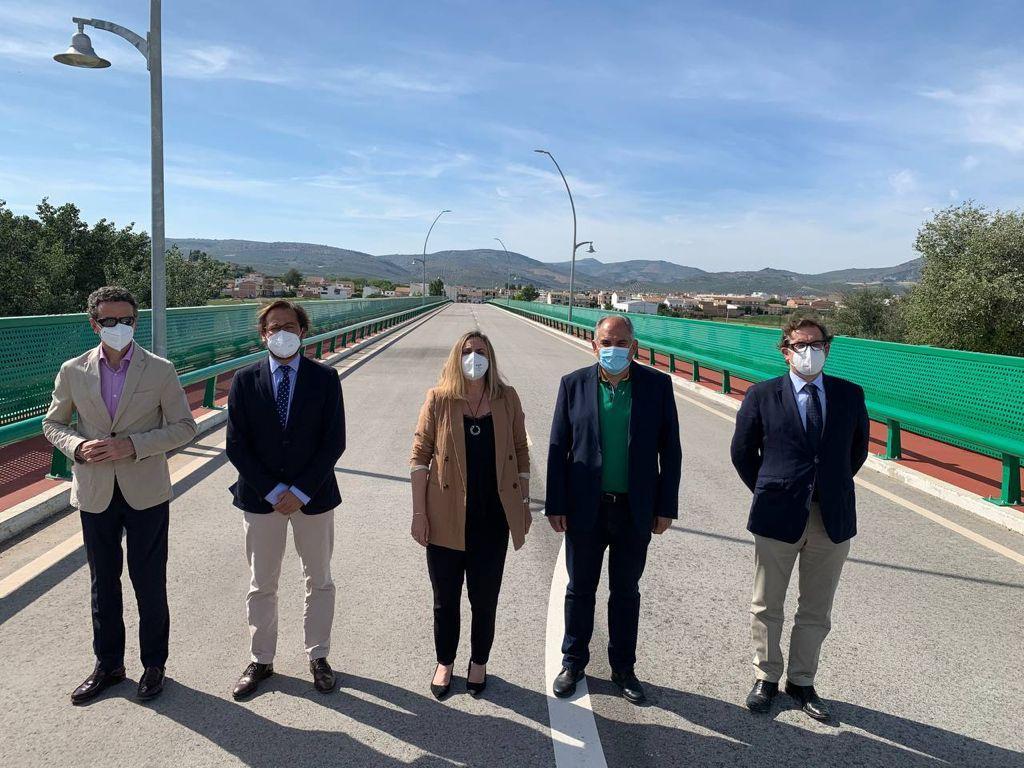 Un nuevo puente de Huétor Tájar garantiza el acceso al municipio durante las fuertes lluvias