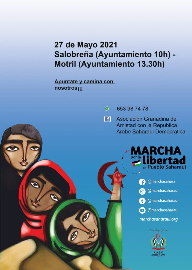 IU llama a la participación en la Marcha por la libertad del Pueblo Saharaui en la Costa de Granada