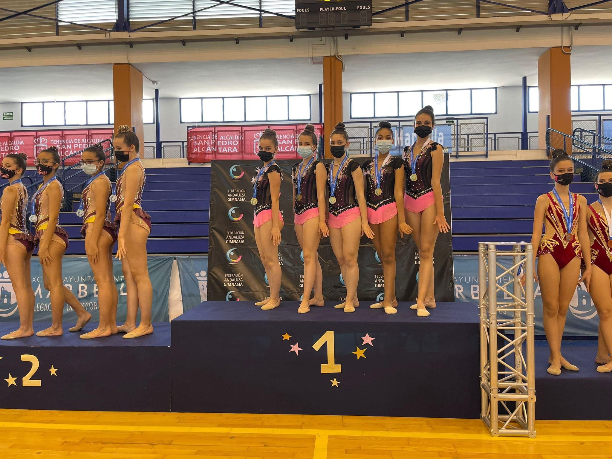 El Club de Gimnasia Rítmica de Huétor Tájar logra la medalla de oro en el Campeonato de Andalucía de Promesas