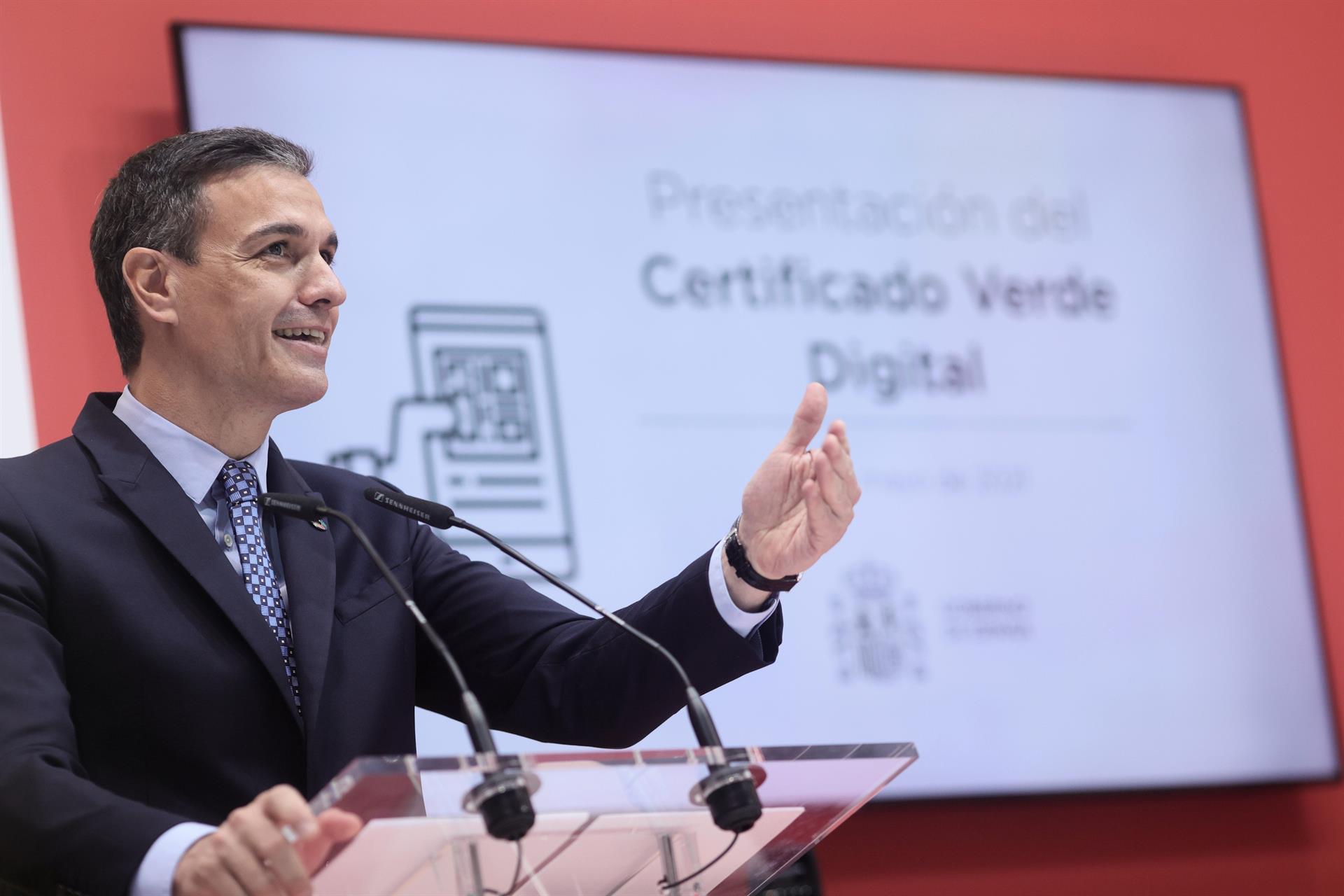 Sánchez anuncia que España empezará a recibir a turistas internacionales vacunados el próximo 7 de junio