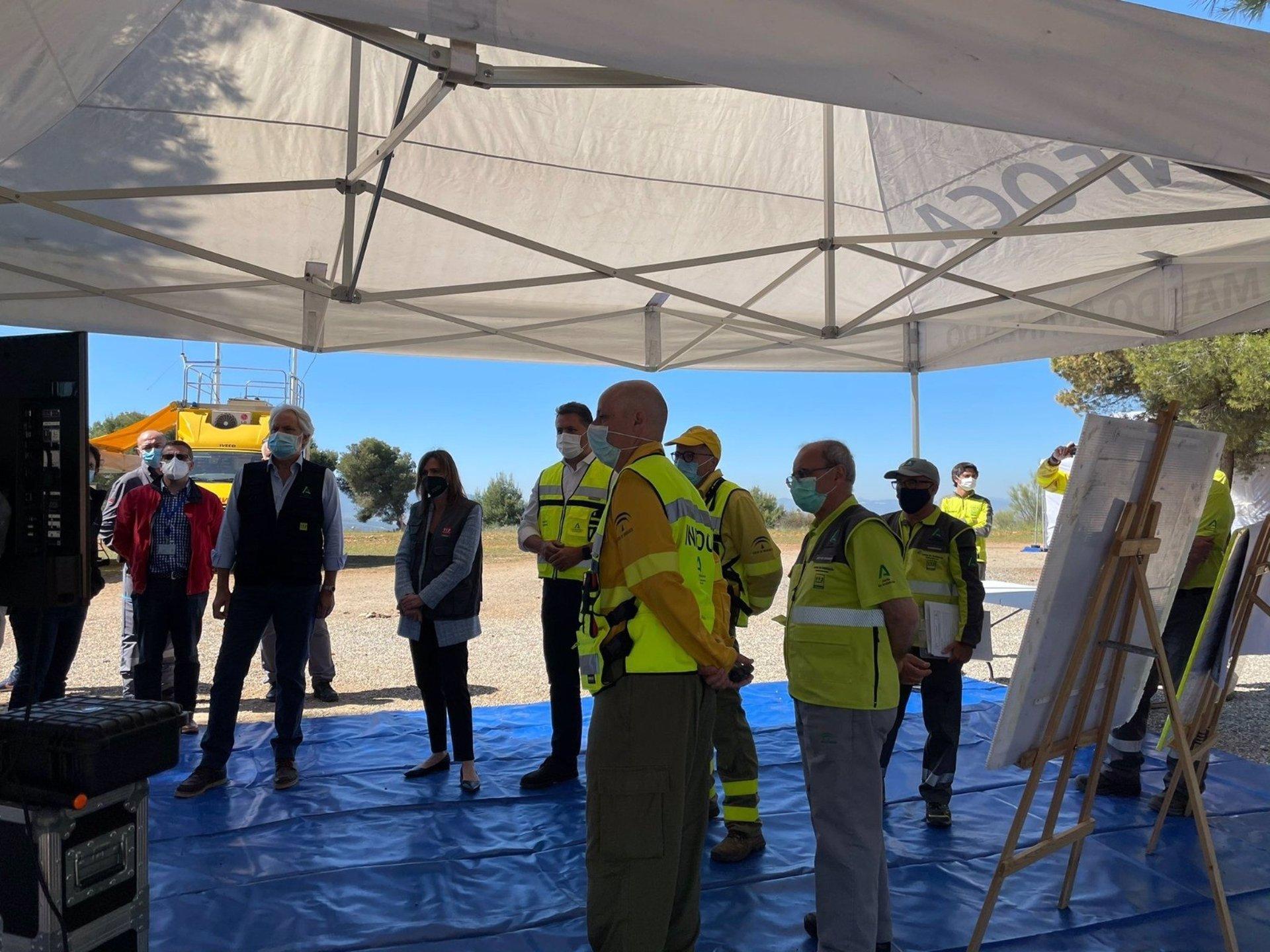 Organizan un simulacro de incendio forestal para poner a punto los protocolos