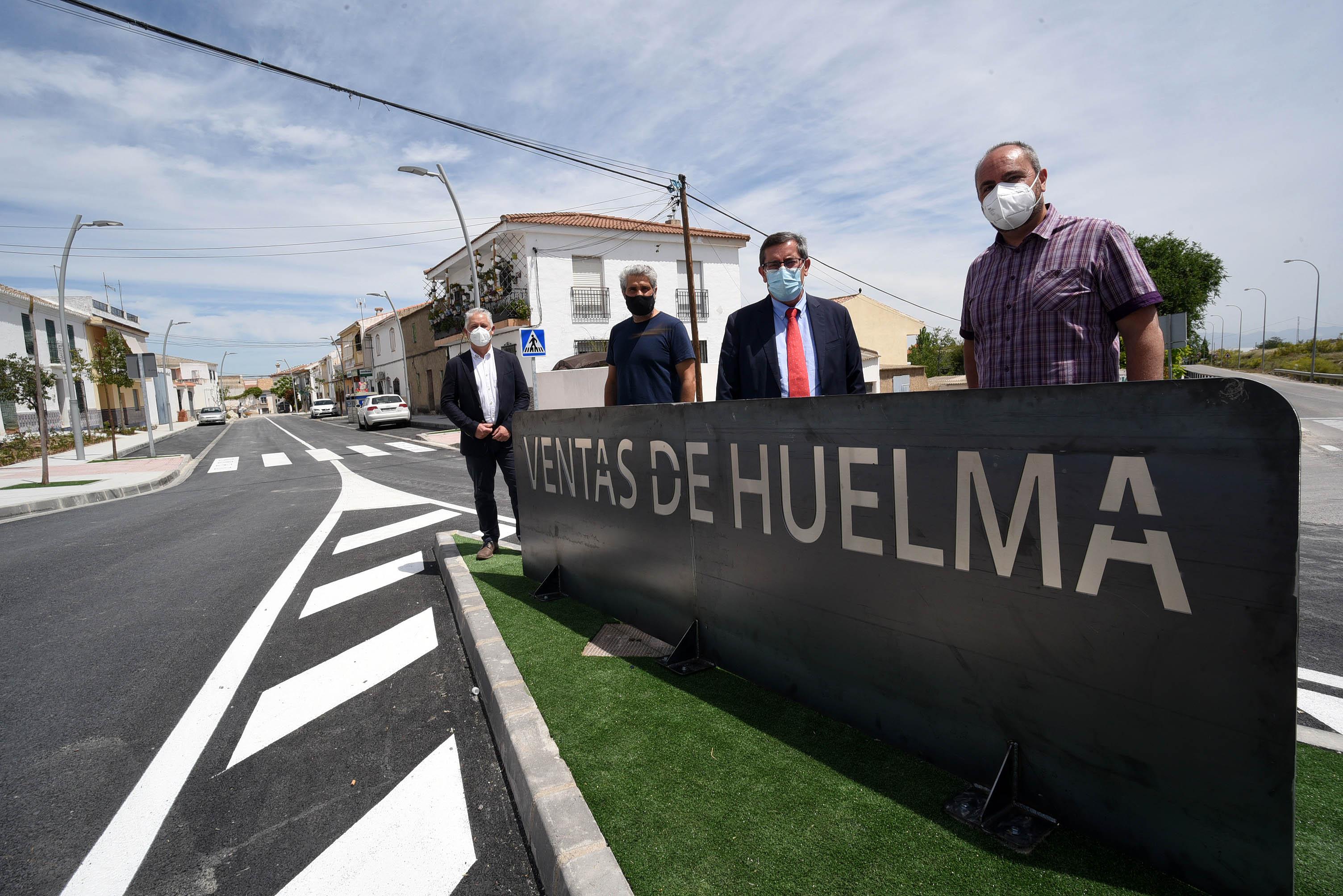 La vía principal de Ventas de Huelma luce renovada tras una inversión de 180.000 euros