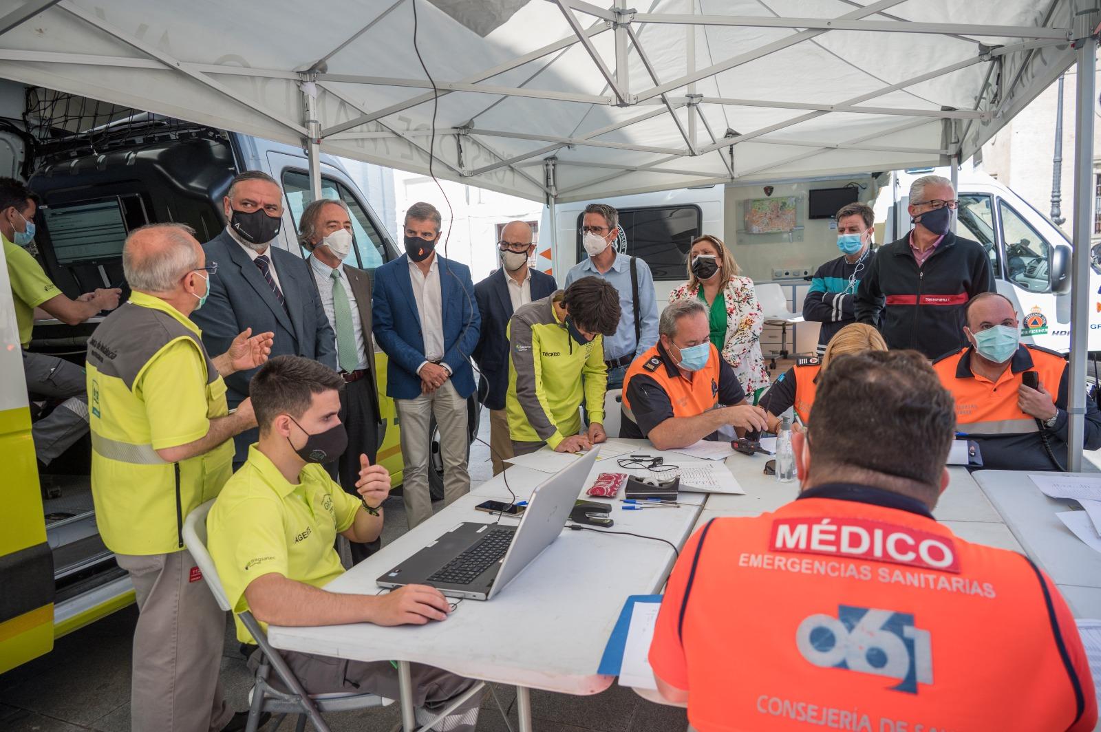 Simulacro de comunicaciones ante incidencias en la red telefónica durante un terremoto en Granada