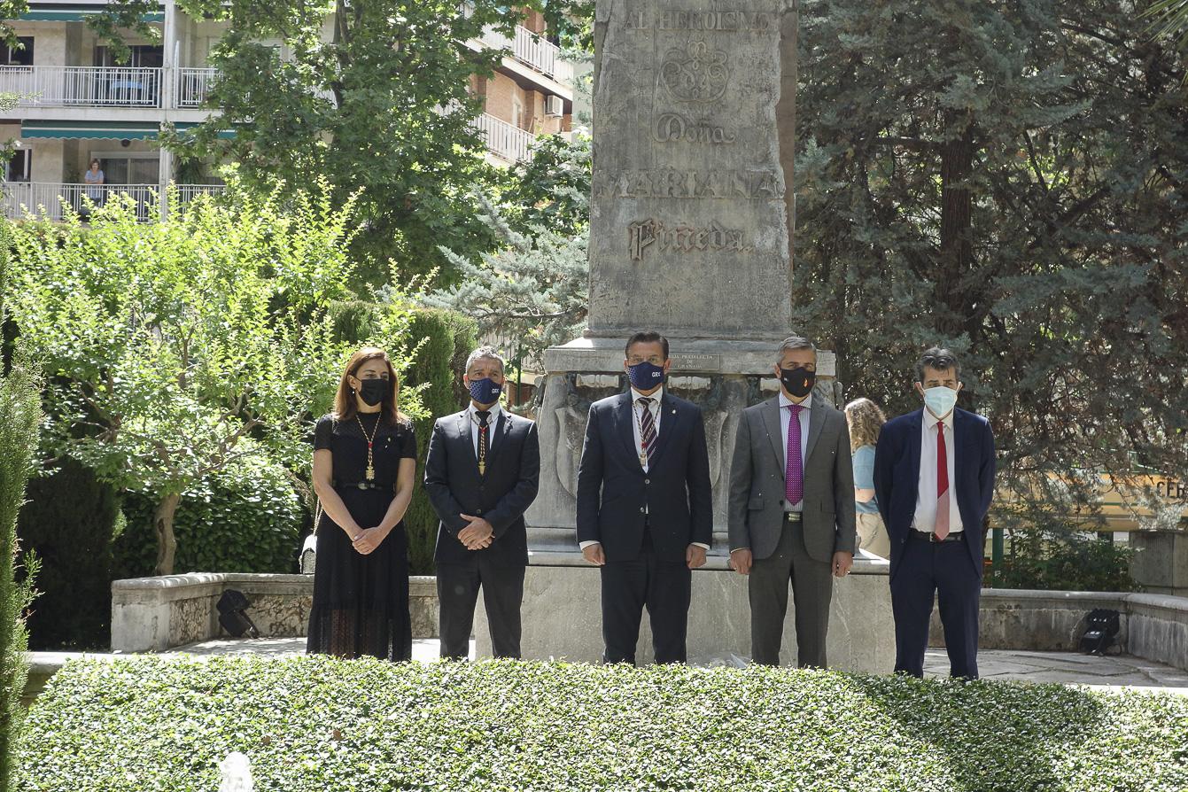 Granada rinde homenaje a Mariana Pineda en el 190 aniversario de su asesinato