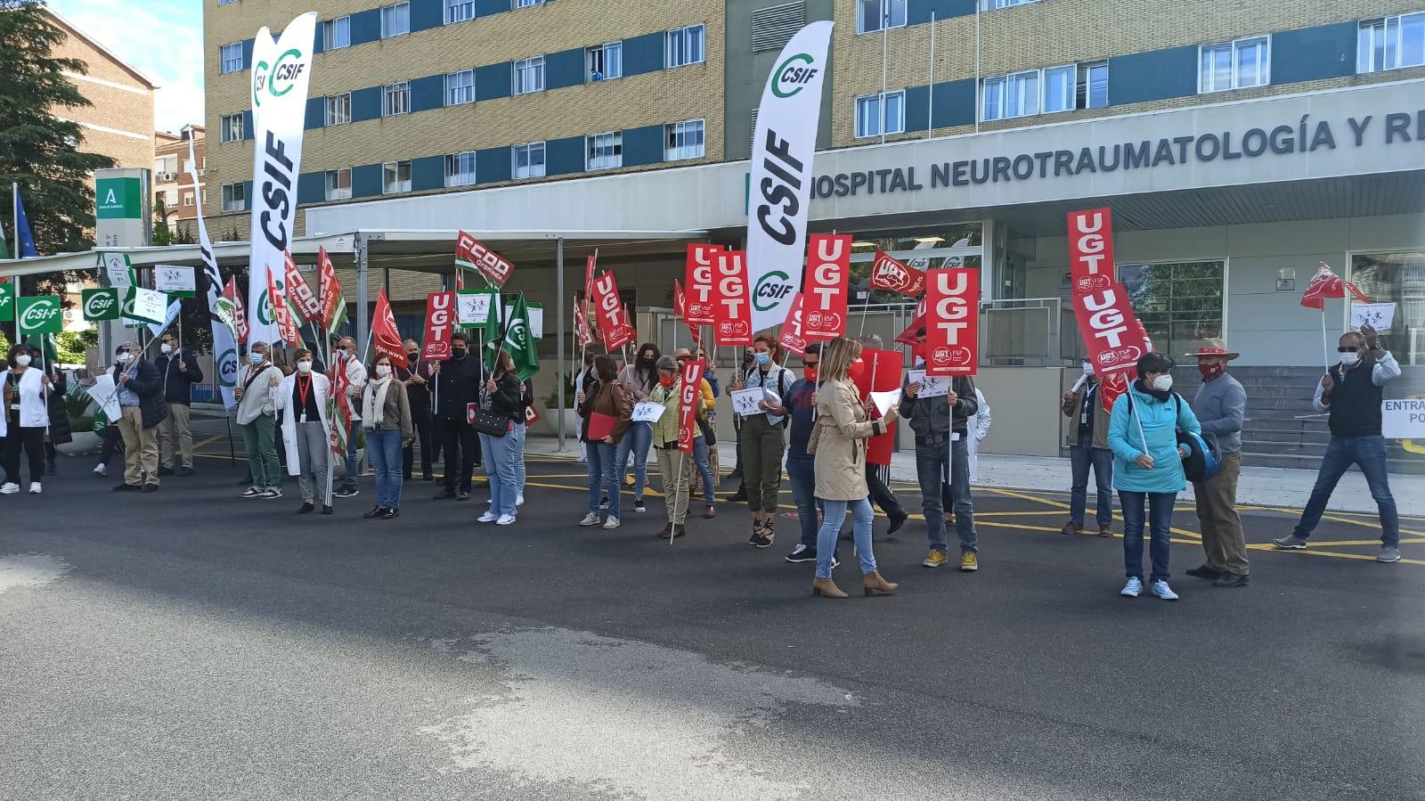 Sindicatos de la Sanidad Pública protestan contra la «sustracción» que el SAS ha hecho del Complemento de Rendimiento Profesional