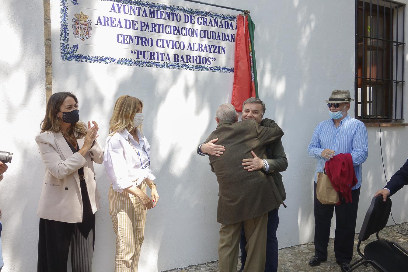 El centro cívico Albaicín pasa a denominarse «Purita Barrios» en homenaje a la «Gran dama del Teatro» granadino