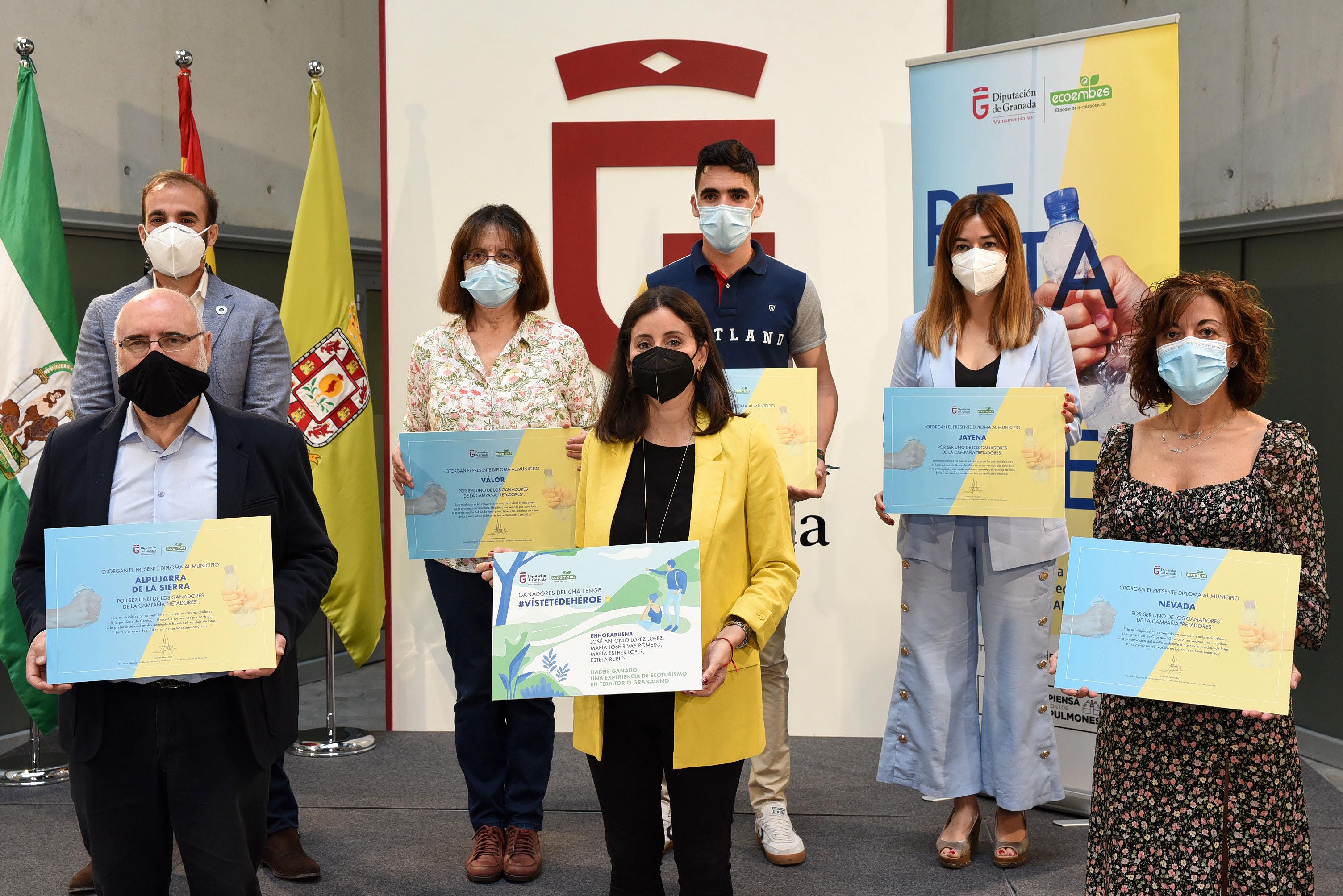 """La campaña """"Retadores"""" reconoce a los 5 municipios que más envases reciclan de toda la provincia de Granada"""