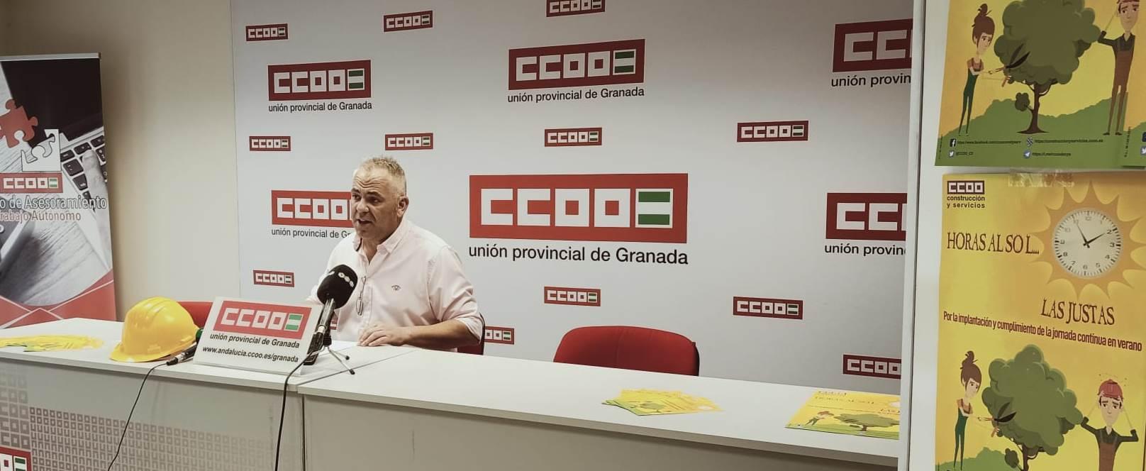 CCOO intensificará las visitas a las obras para evitar incumplimientos de la jornada intensiva
