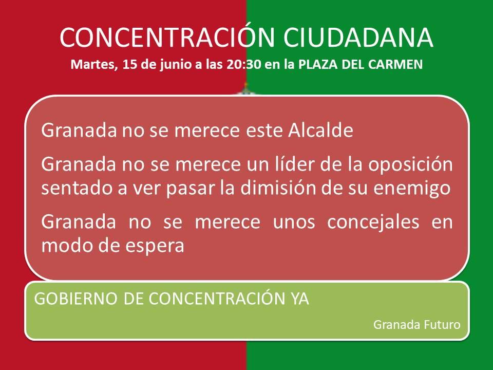 Granada Futuro pide un gobierno de concentración PSOE-PP en Granada