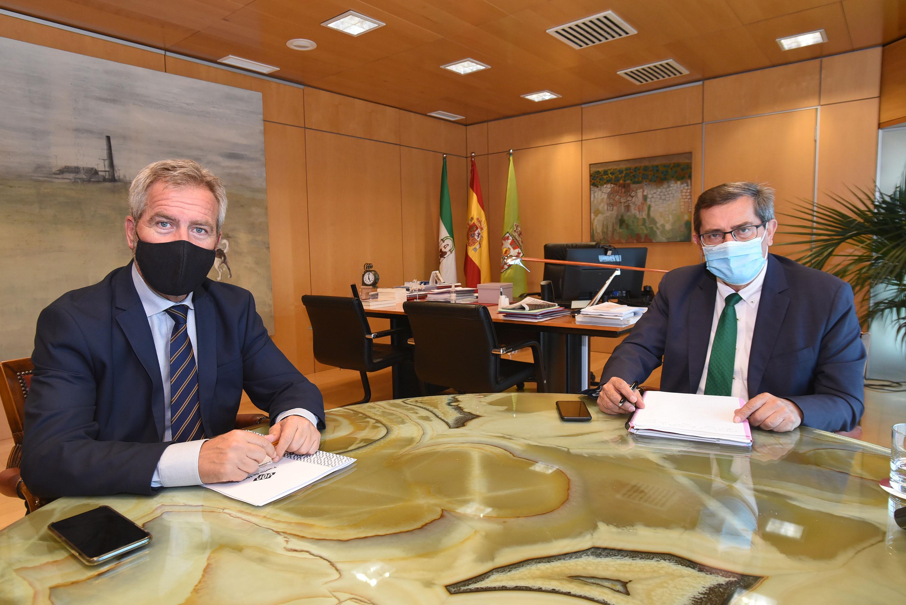 Reunión entre Entrena y el presidente del puerto de Motril
