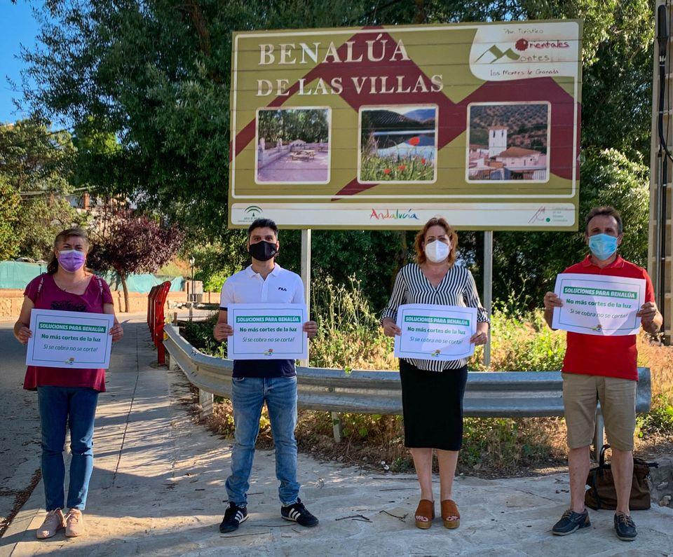 IU exige a Diputación un plan contra los cortes de luz en Benalúa de las Villas
