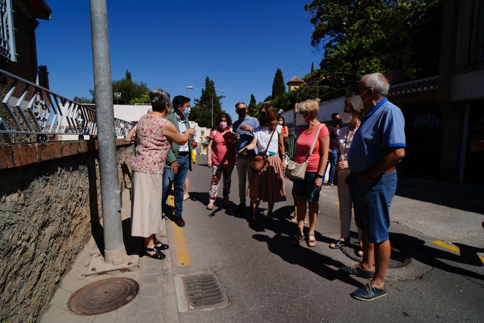 Paco Cuenca reclama un plan de intervención en el paseo de las palmas para mejorar la accesibilidad y la seguridad