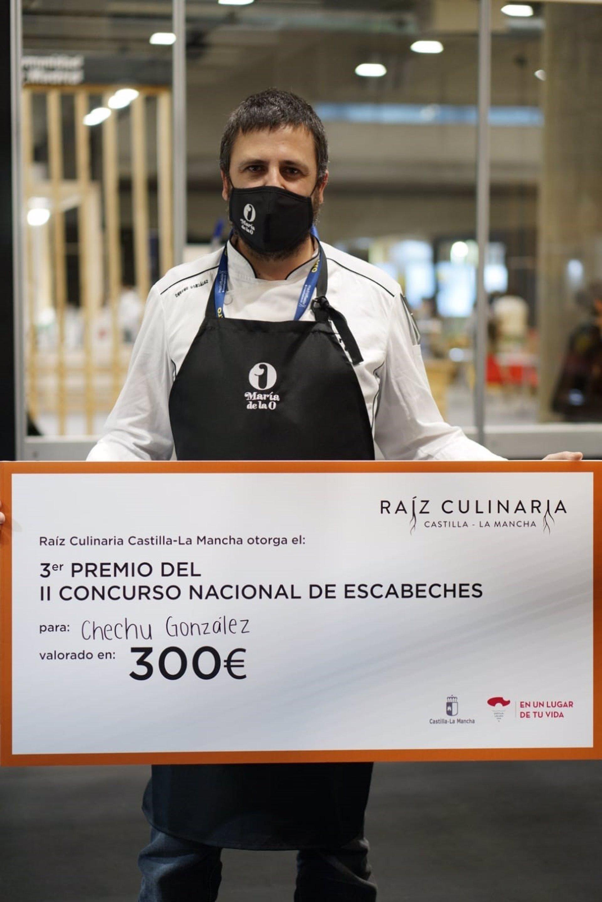 Chechu González, chef de María de la O, obtiene el tercer premio en el Concurso Nacional de Escabeches