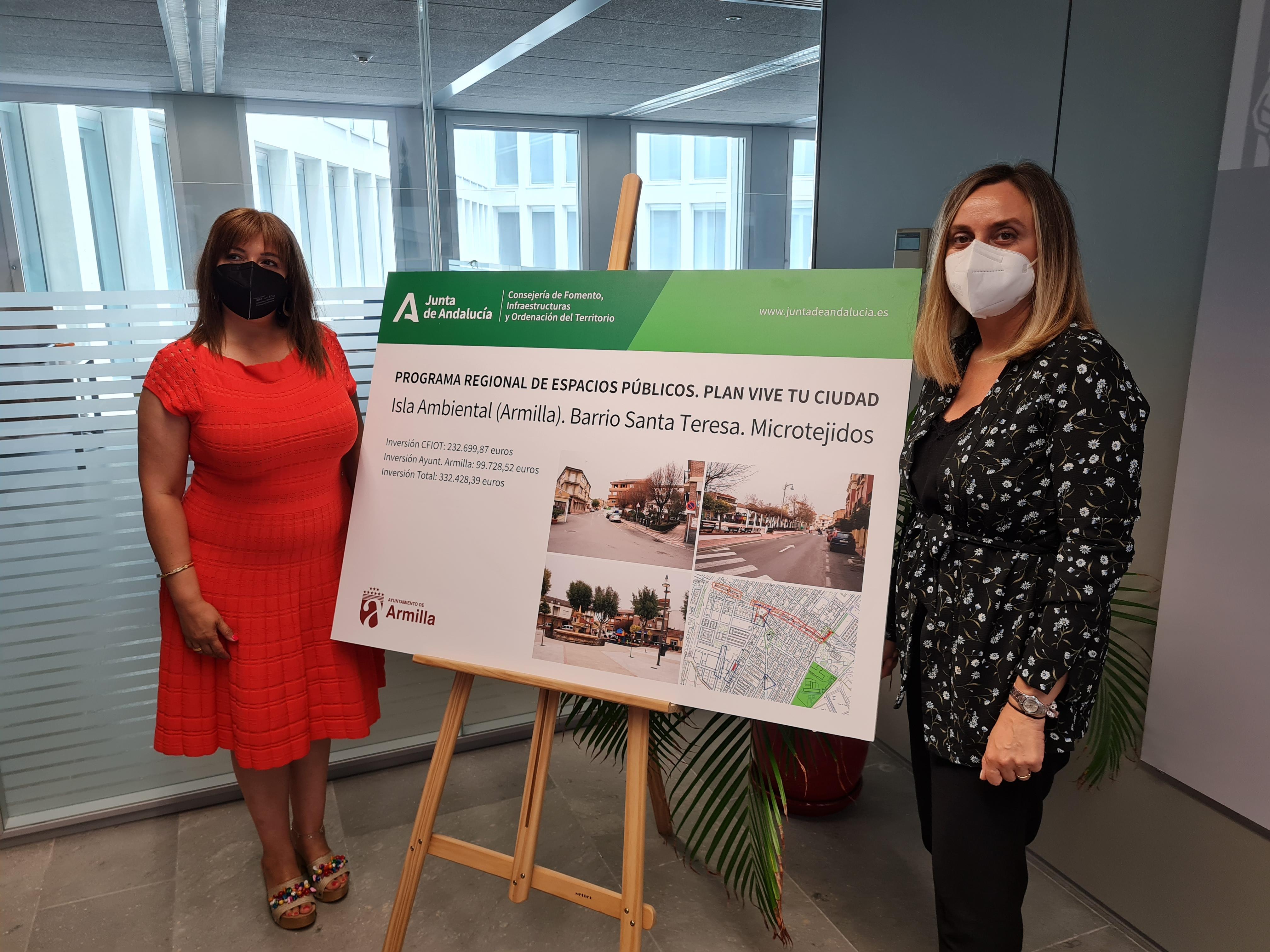 Armilla y Fomento abordan la ejecución de las obras complementarias del Metro y el paso peatonal al PTS