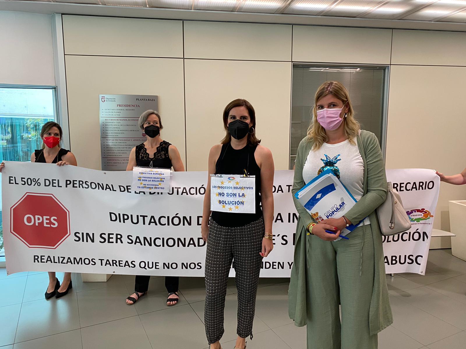 """Inmaculada Hernández considera """"bochornoso"""" que Entrena no apoye a los trabajadores interinos de Diputación"""