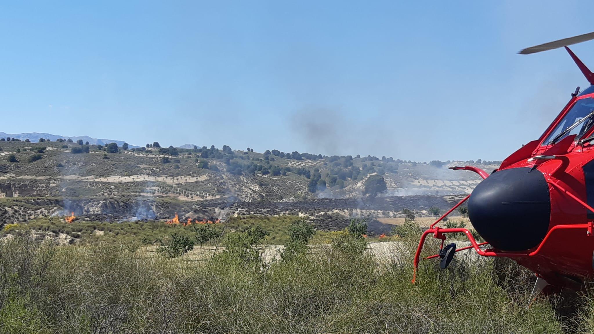 El incendio forestal de Cortes de Baza calcinó cuatro hectáreas de matorral