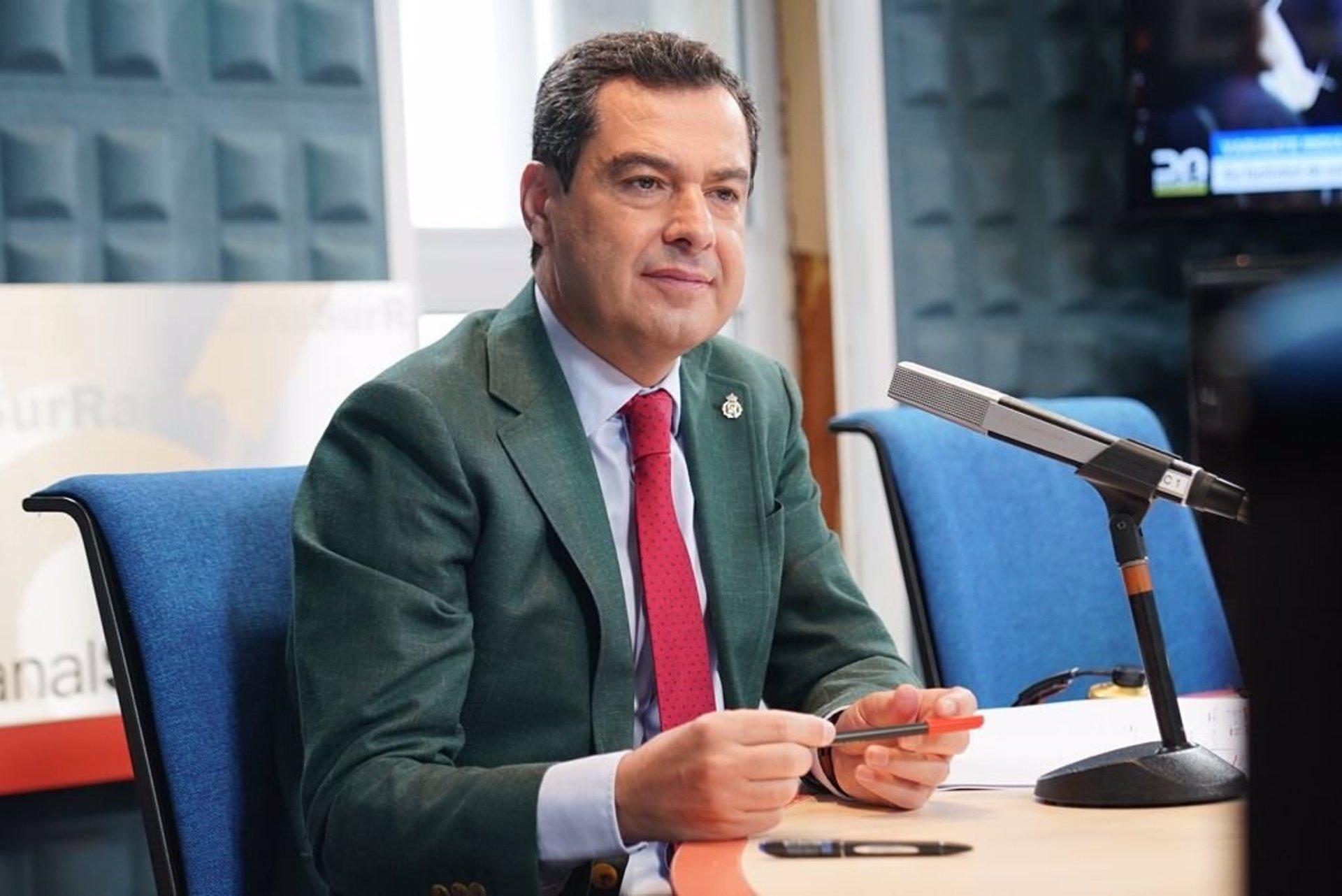 Moreno plantea a Ximo Puig un «frente común» Andalucía-Valencia para reclamar al Gobierno una financiación justa