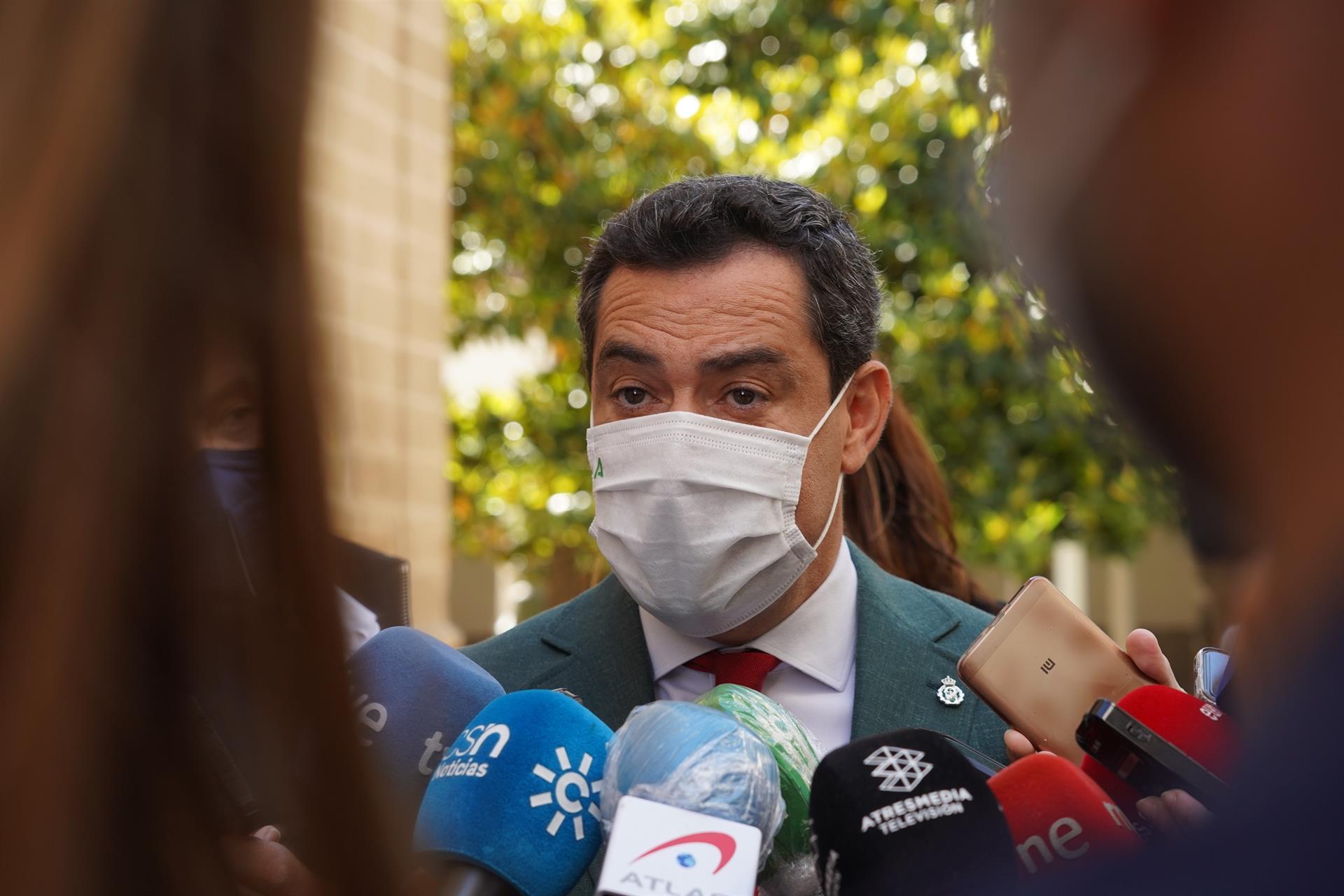 Moreno lamenta la «decisión unilateral» sobre mascarillas: «Hay expertos que creen que es precipitado»